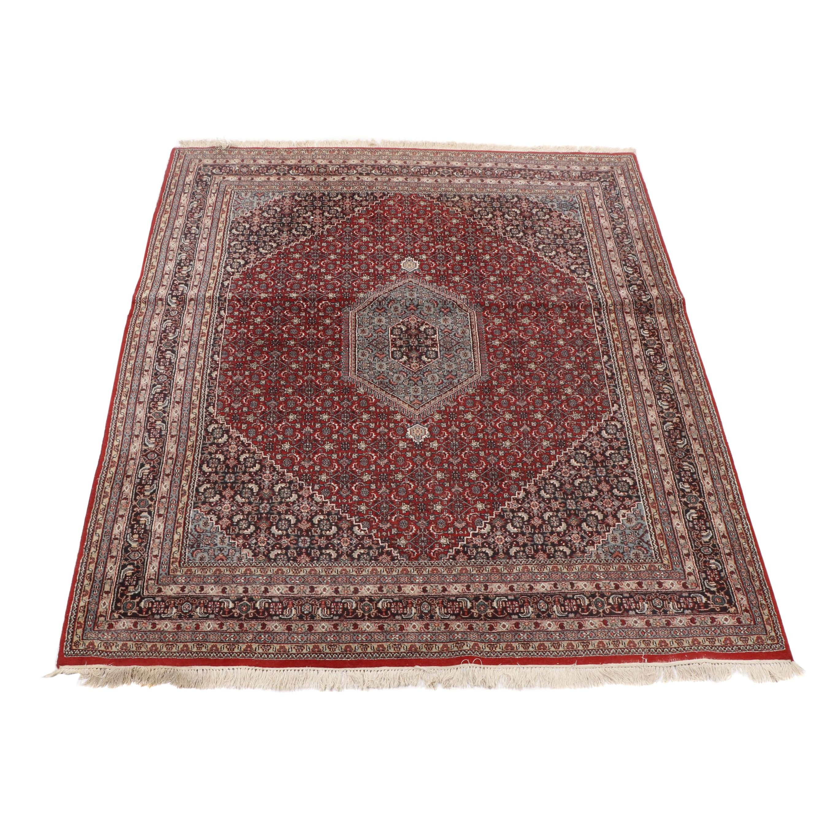 Hand Knotted Persian Bijar Wool Area Rug