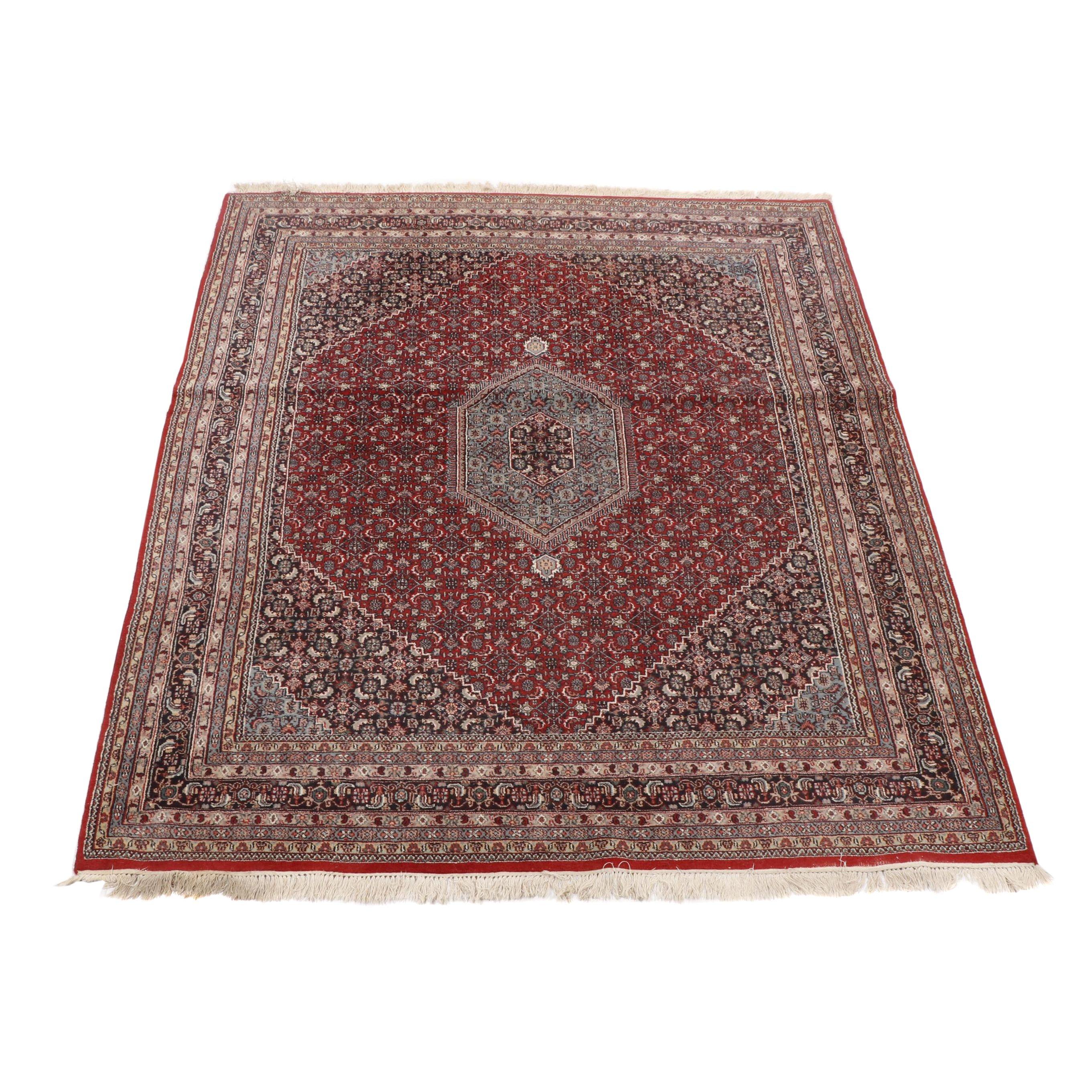 Hand Knotted Persian Bijar Wool Area Rug