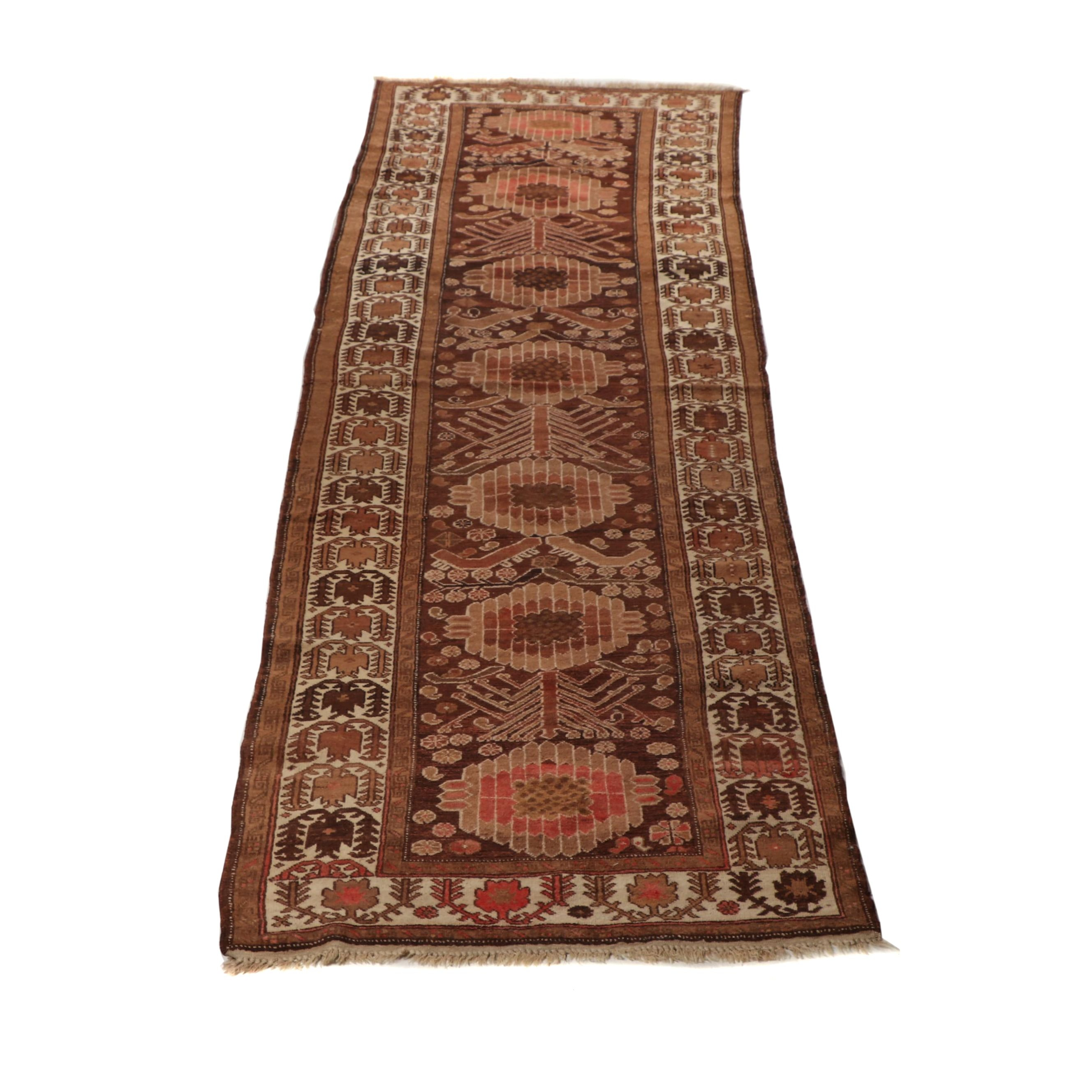 Hand-Knotted Afghani Wool Carpet Runner