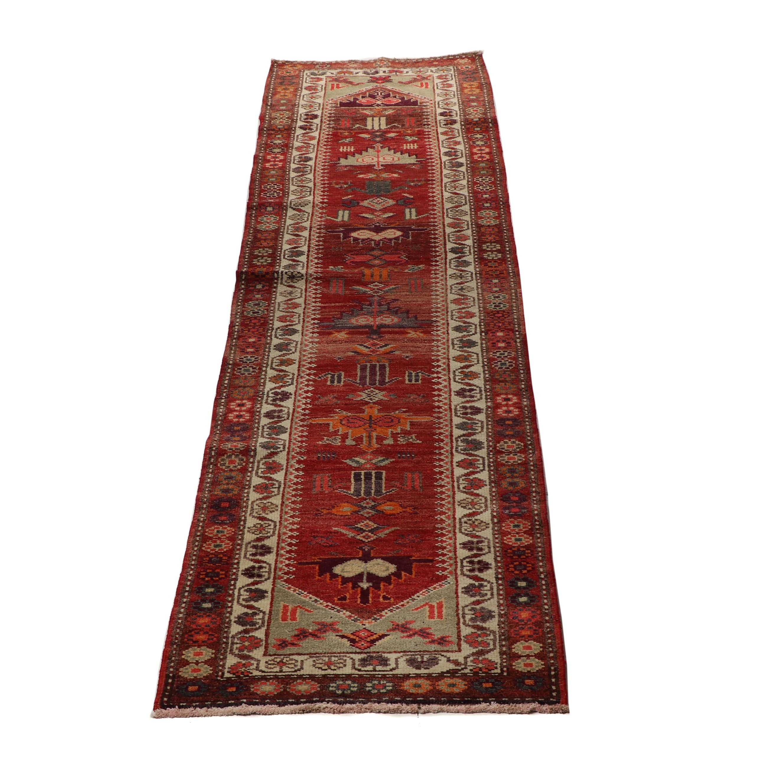 Hand-Knotted Turkish Wool Carpet Runner