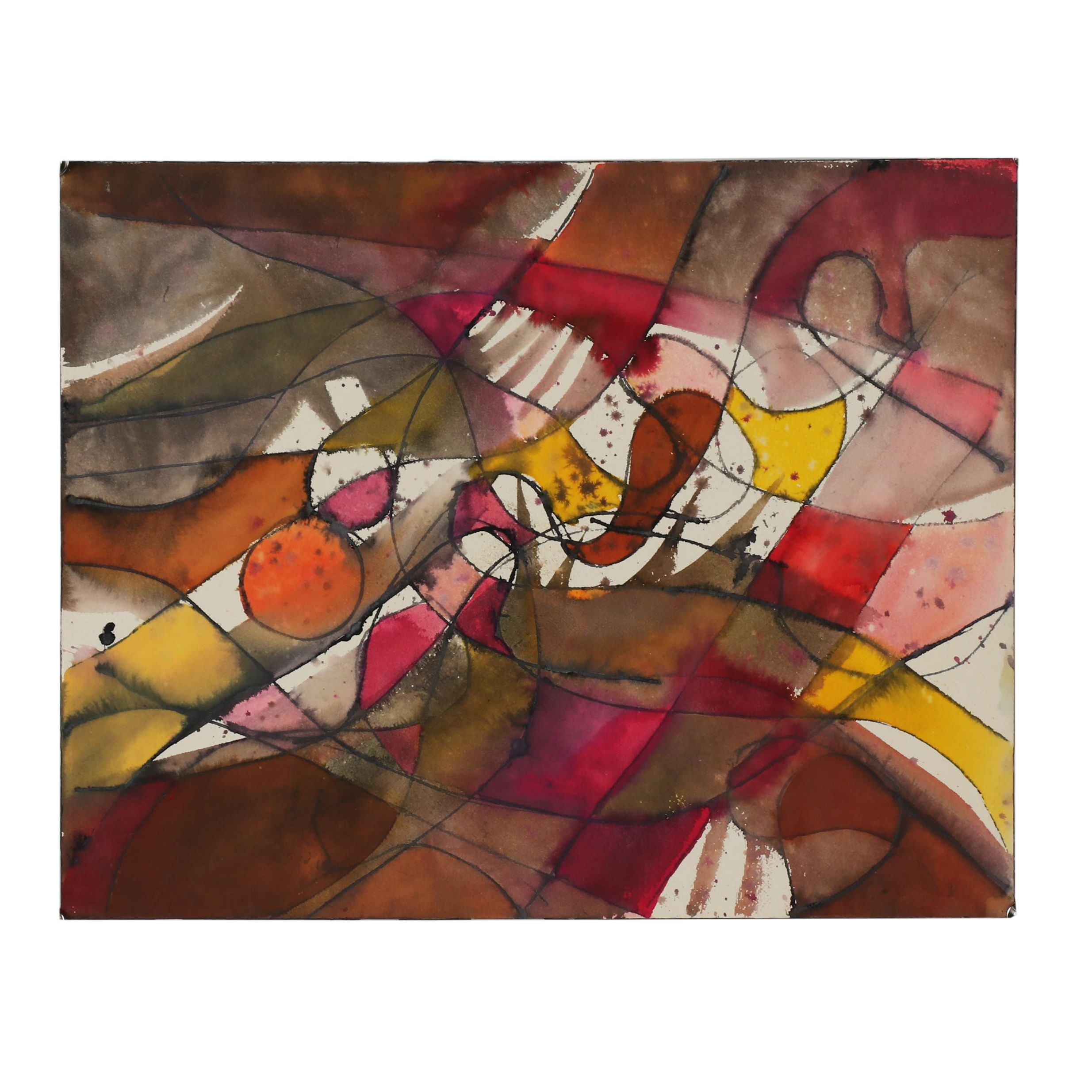 20th Century Abstract Mixed Media Painting