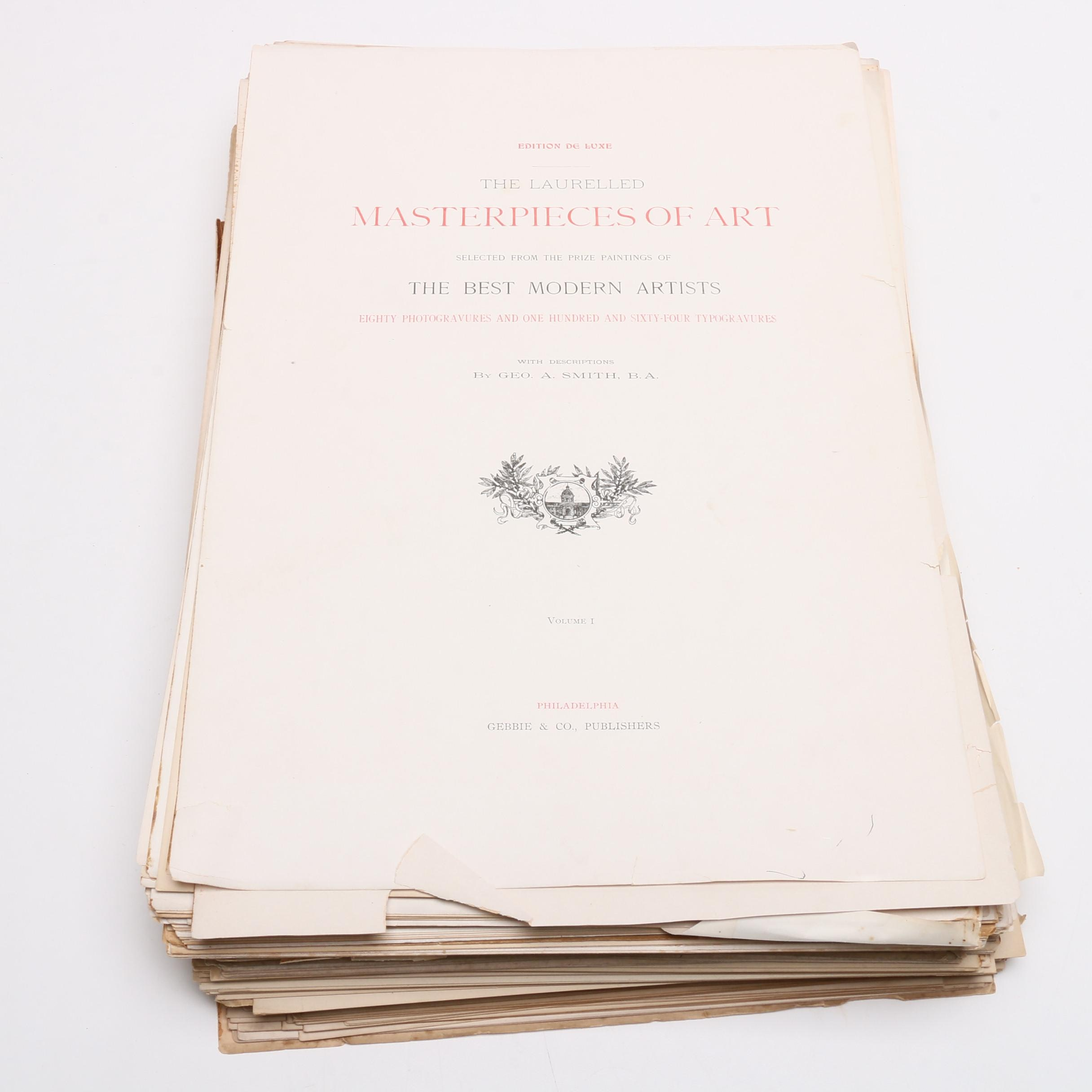 """""""The Laurelled Masterpieces of Art"""" Two Volume Set with Additional Portfolios"""