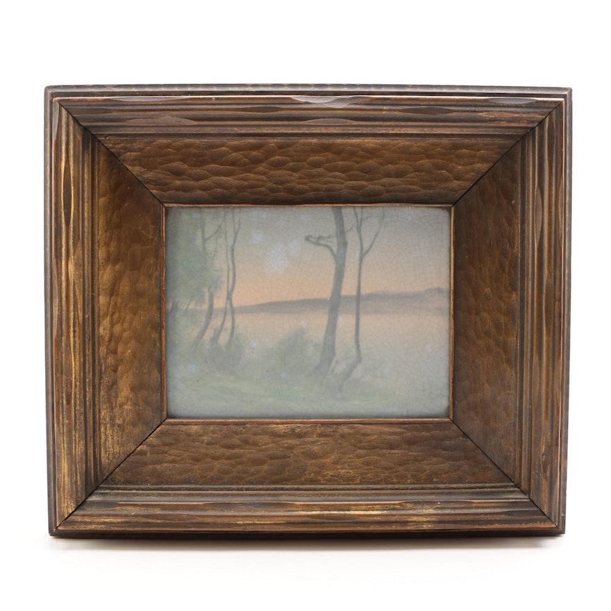 Edward Diers Landscape Rookwood Pottery Vellum Tile