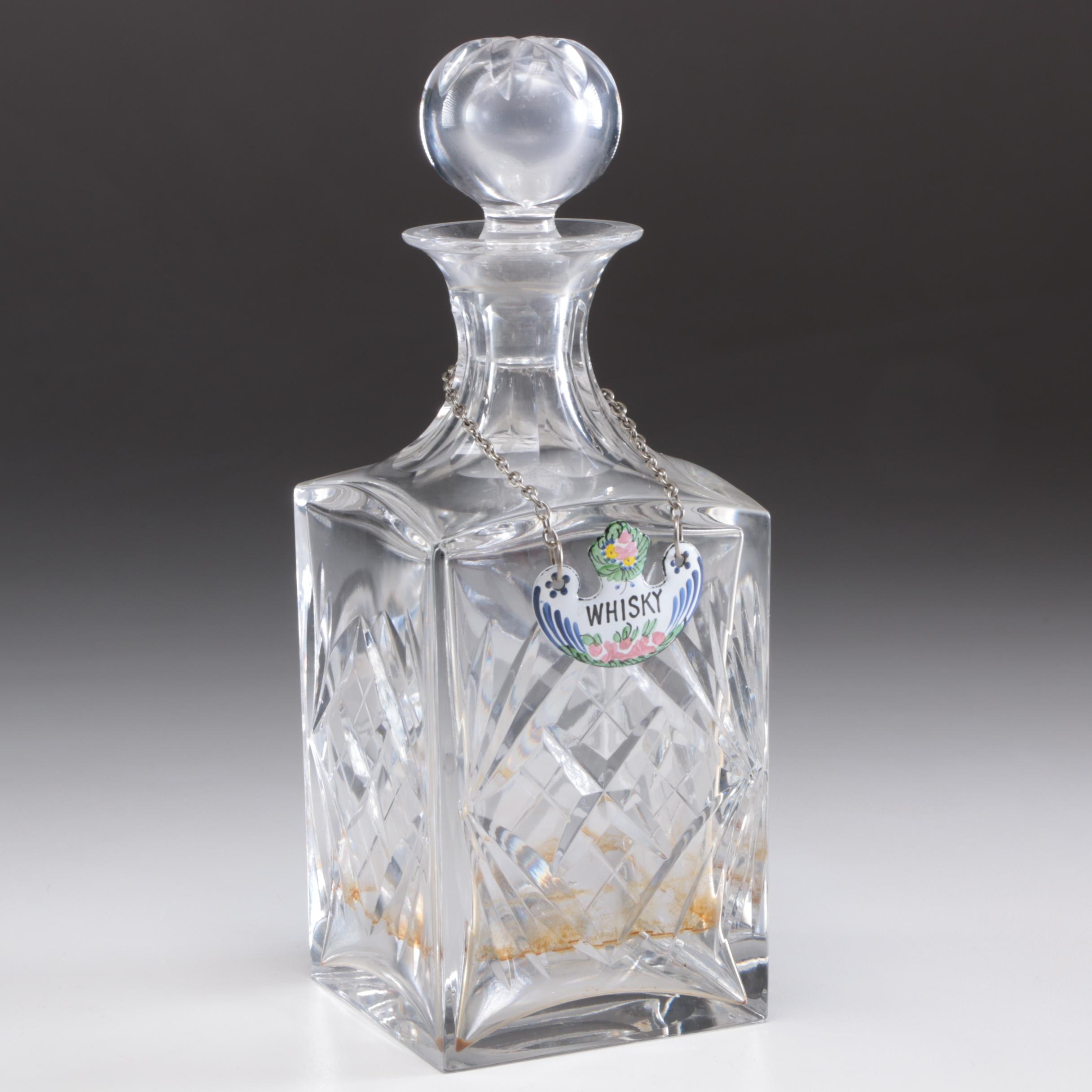 "St. Louis Crystal ""Chantilly Clear"" Decanter, Late 20th Century"