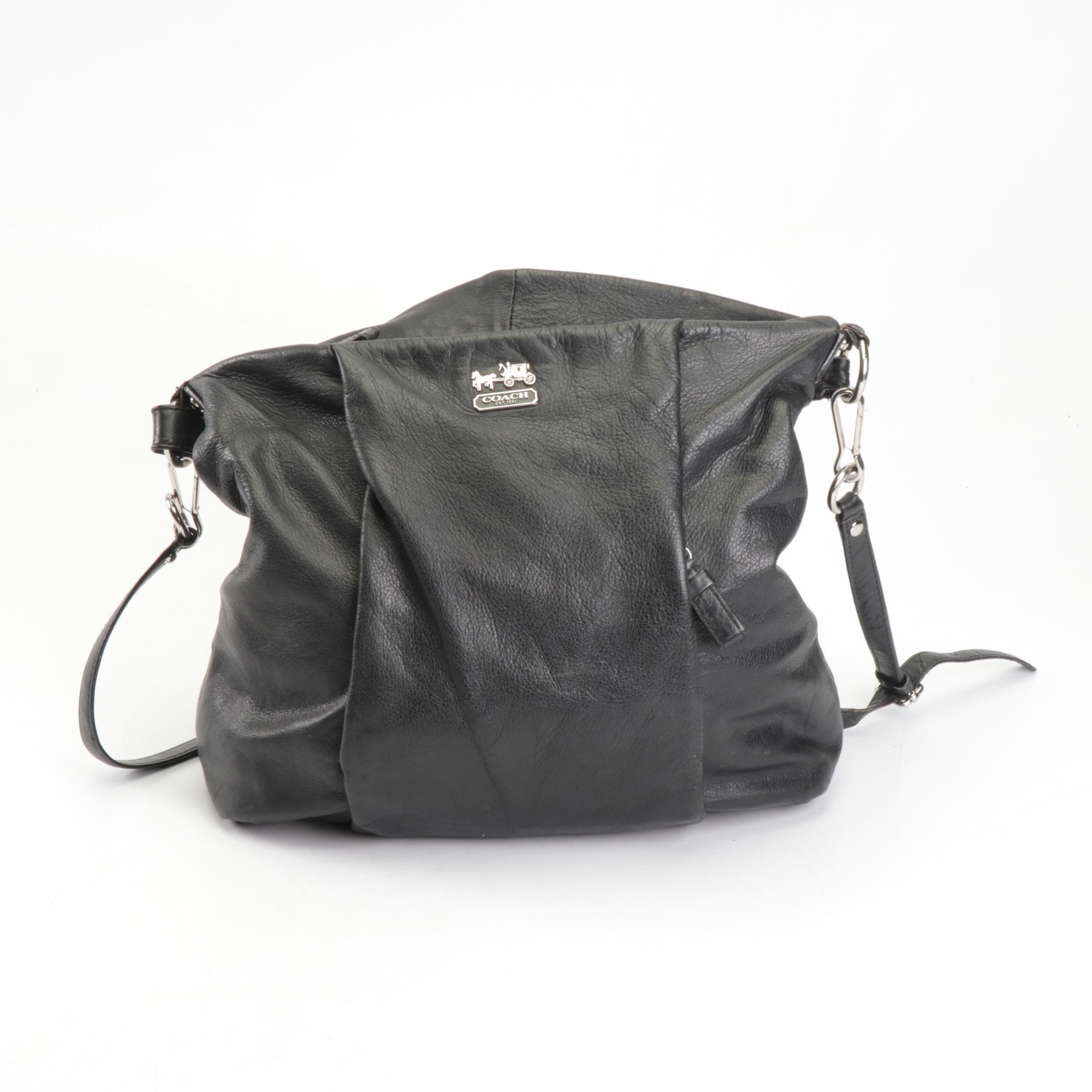 Coach Isabelle Black Grained Leather Shoulder Bag