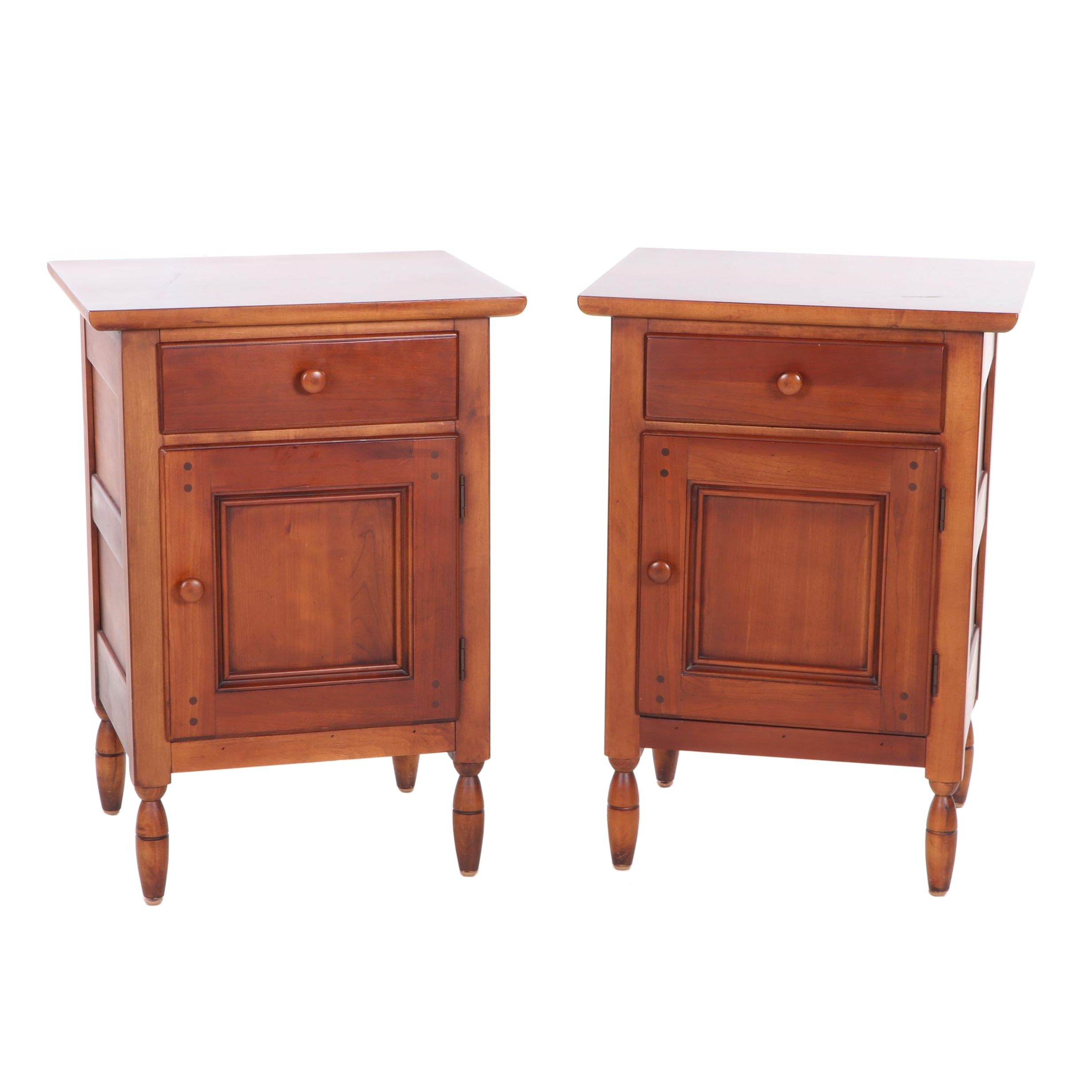 Pair of Lexington Furniture Cherry Bedside Tables