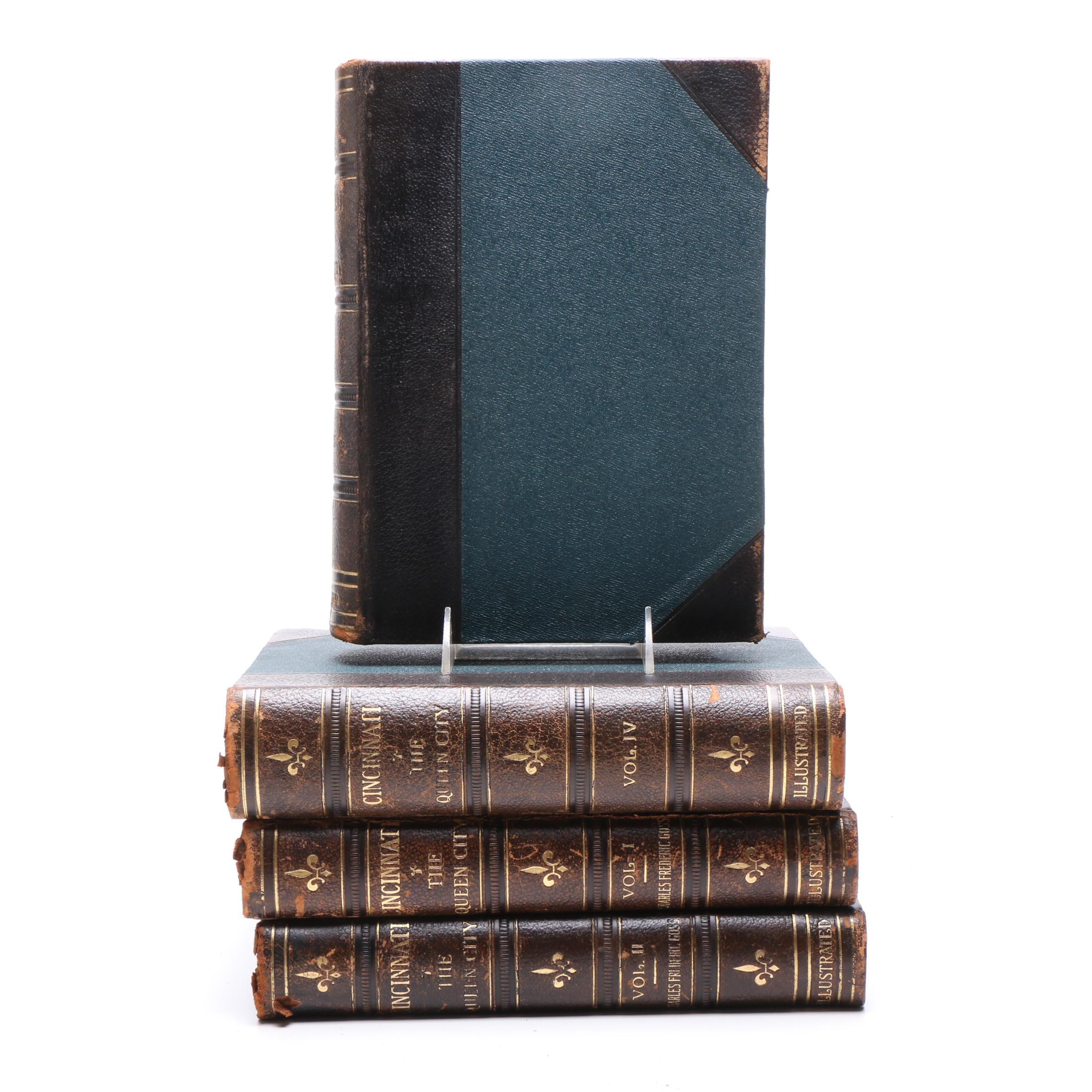 "1912 ""Cincinnati: The Queen City"" by Rev. Charles Goss, Four Volume Set"