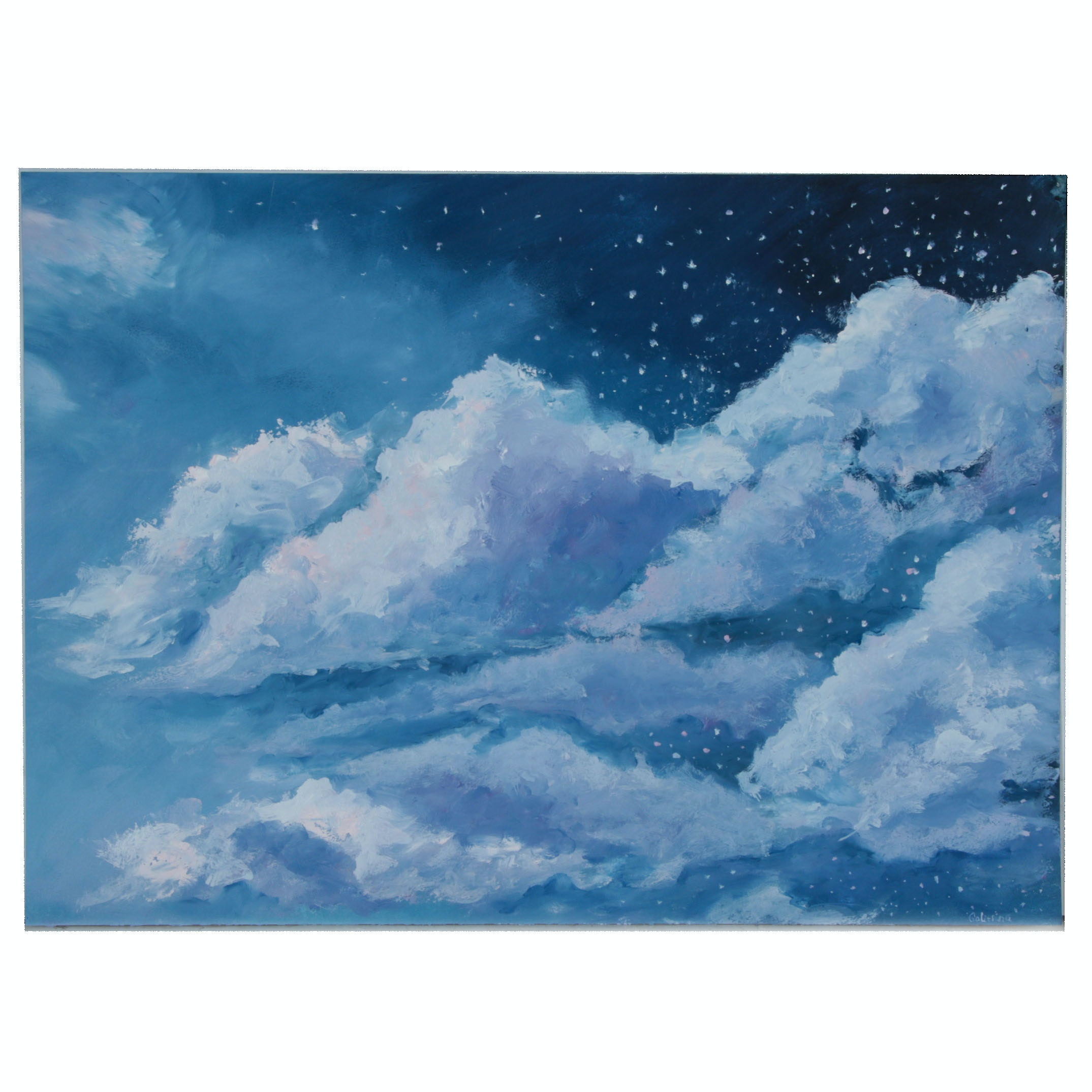 Galitsino Oil Painting of Clouds in the Dark Sky