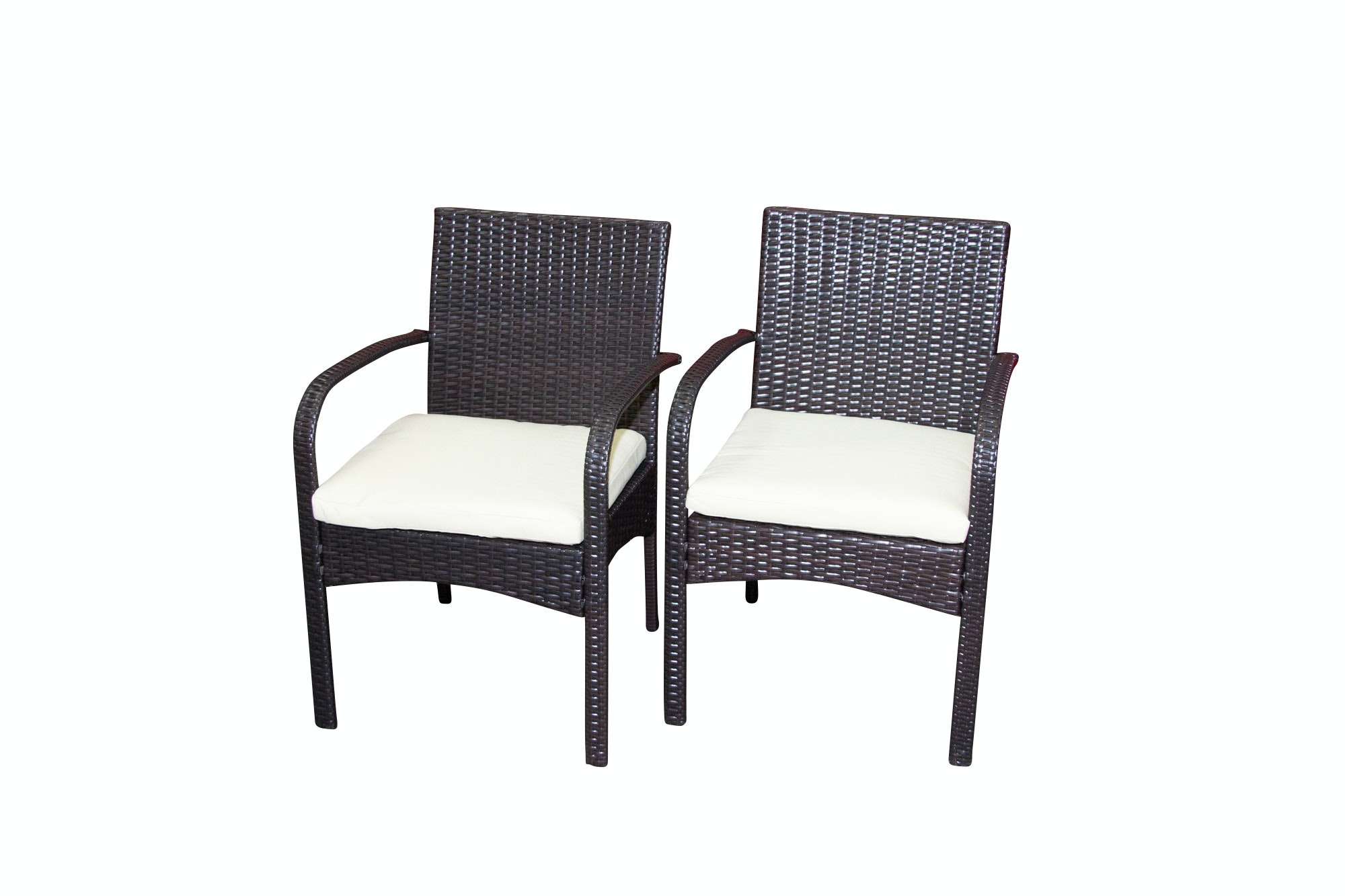 Synthetic Woven Patio Armchairs