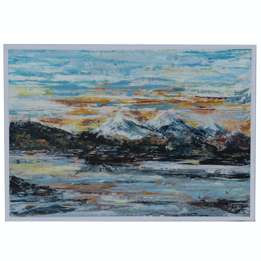 Abstract Oil Painting of Landscape