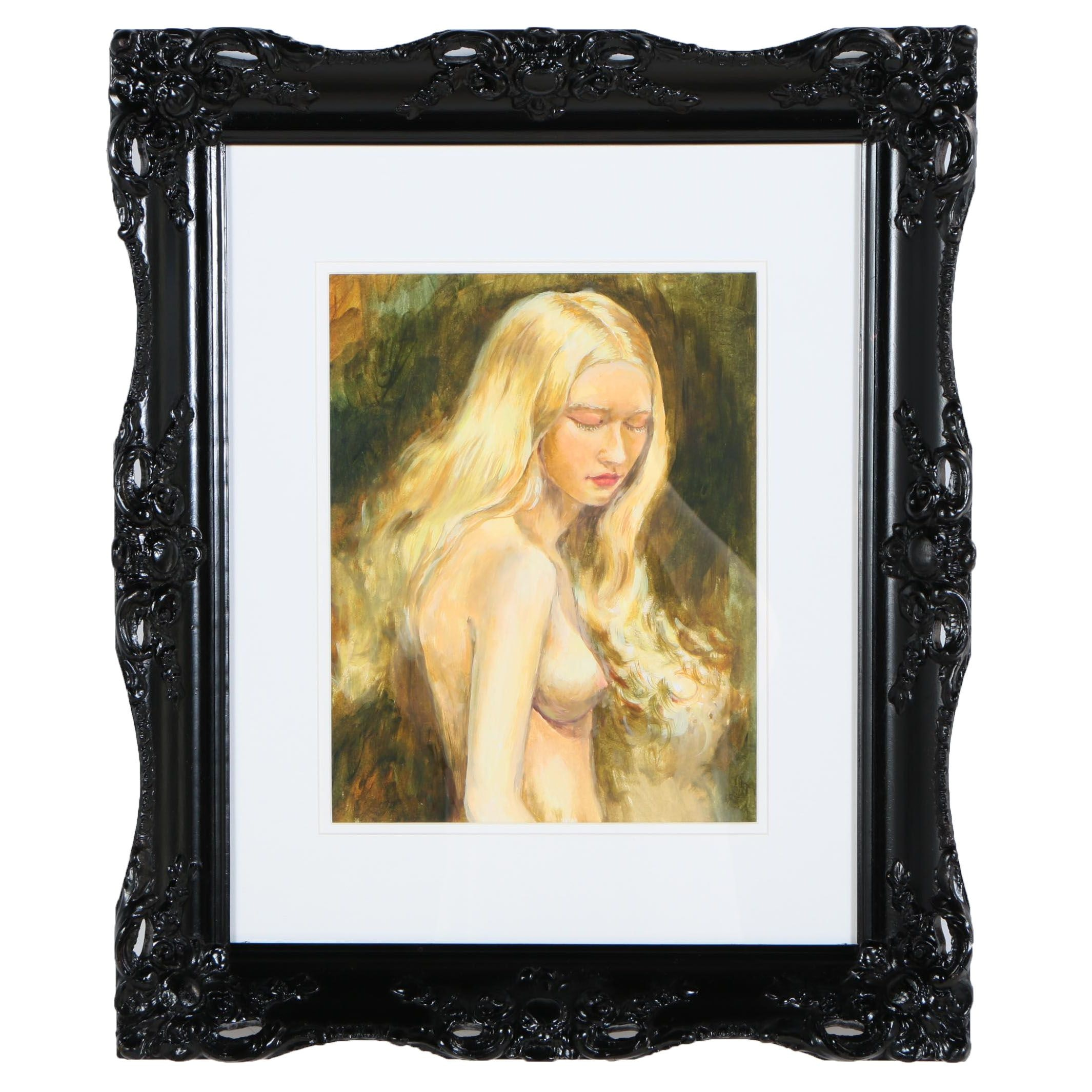 Oksana Belonozhko Oil Painting of Female Nude