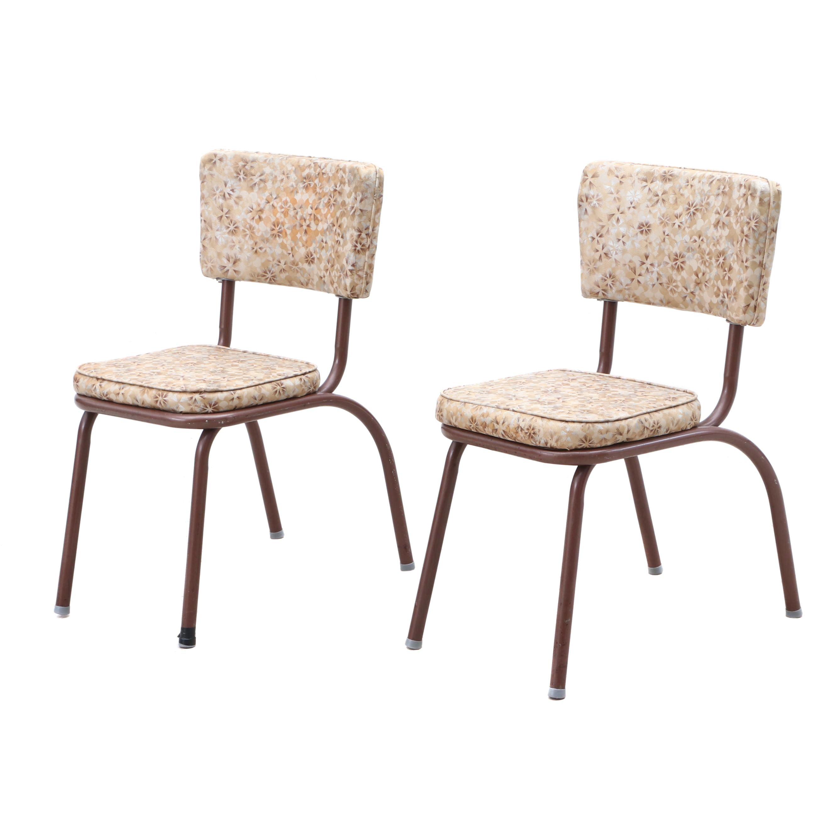 Mid Century Modern Vinyl Upholstered Dinette Chairs