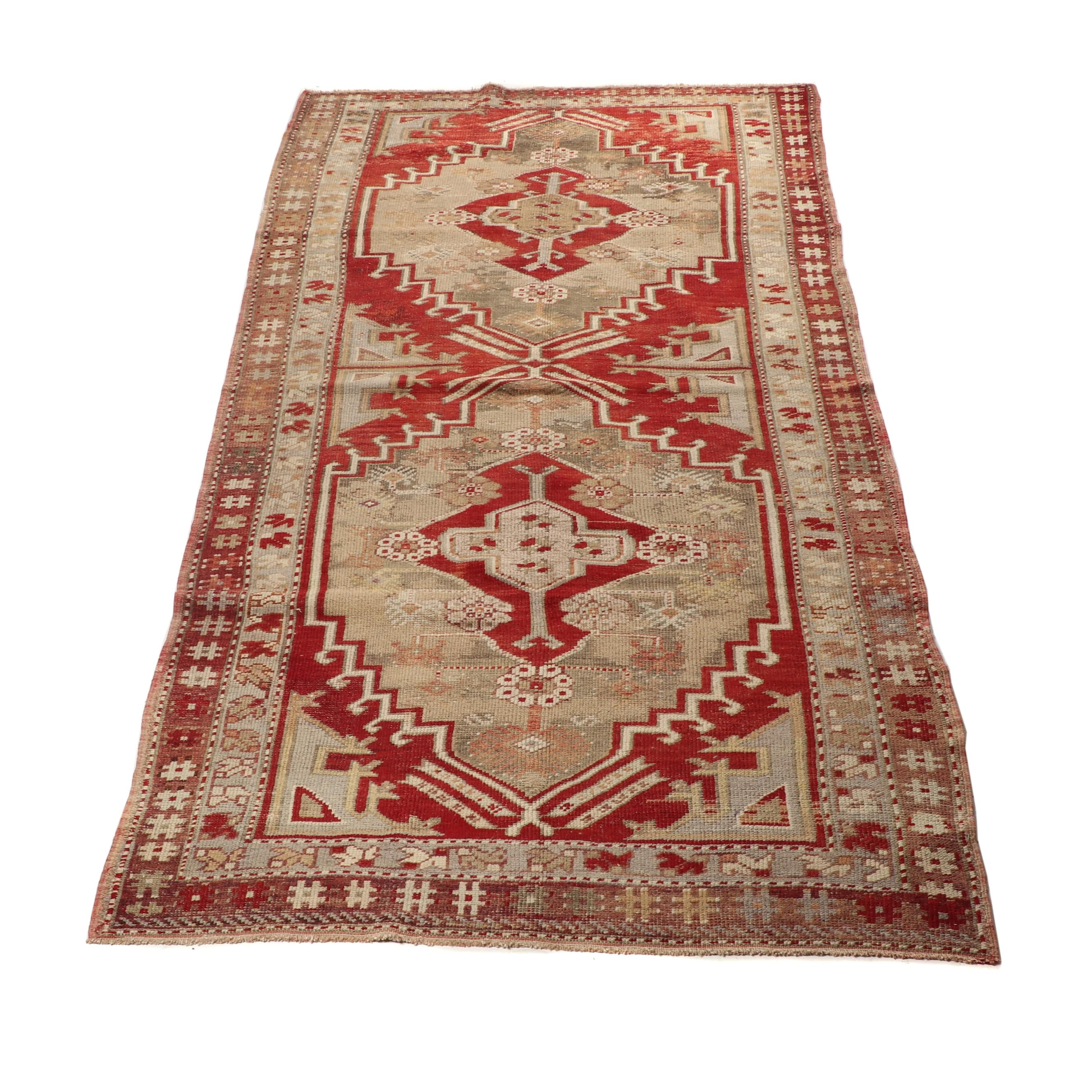 Hand-Knotted Turkish Talish Wool Rug