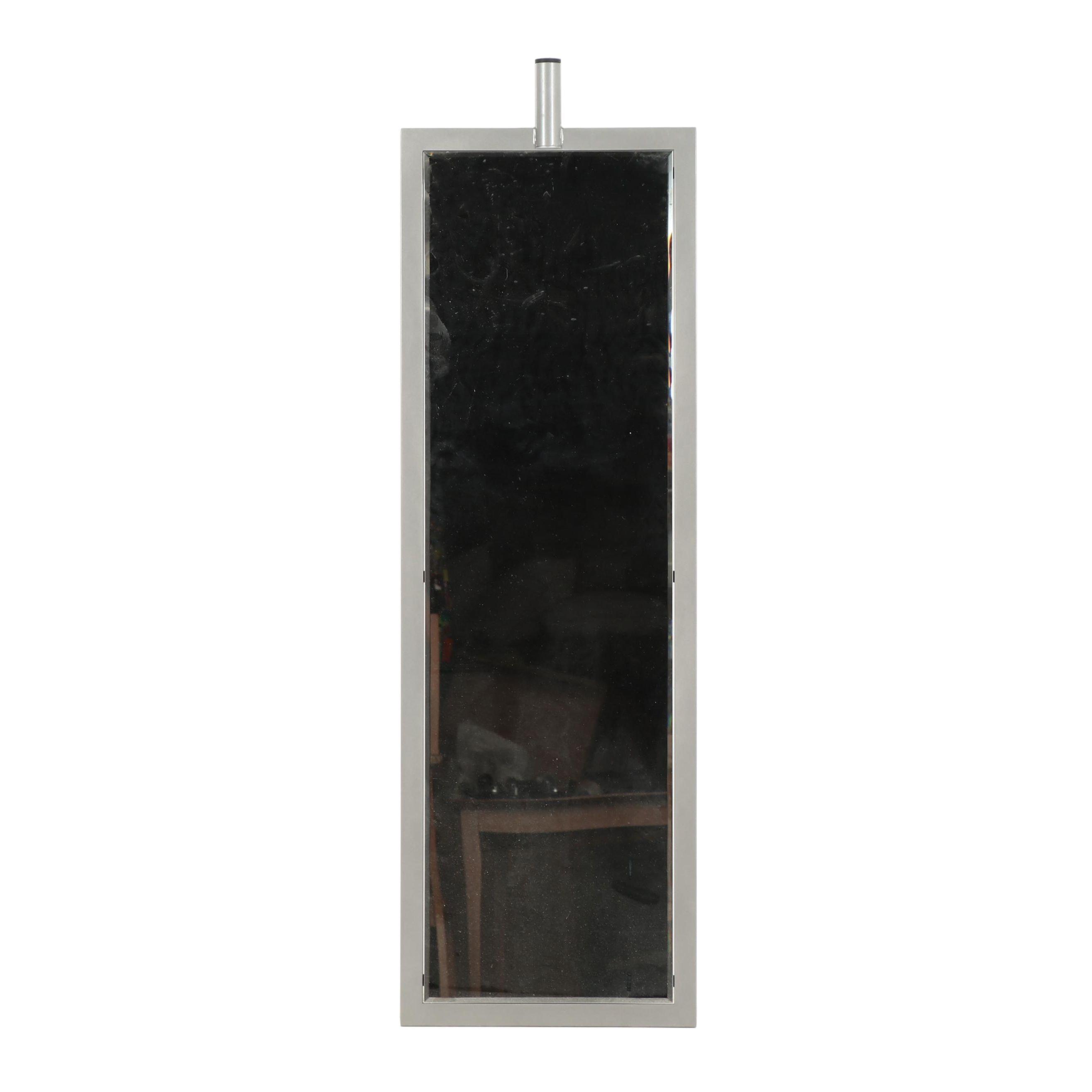 Contemporary Metal Floor Mirror