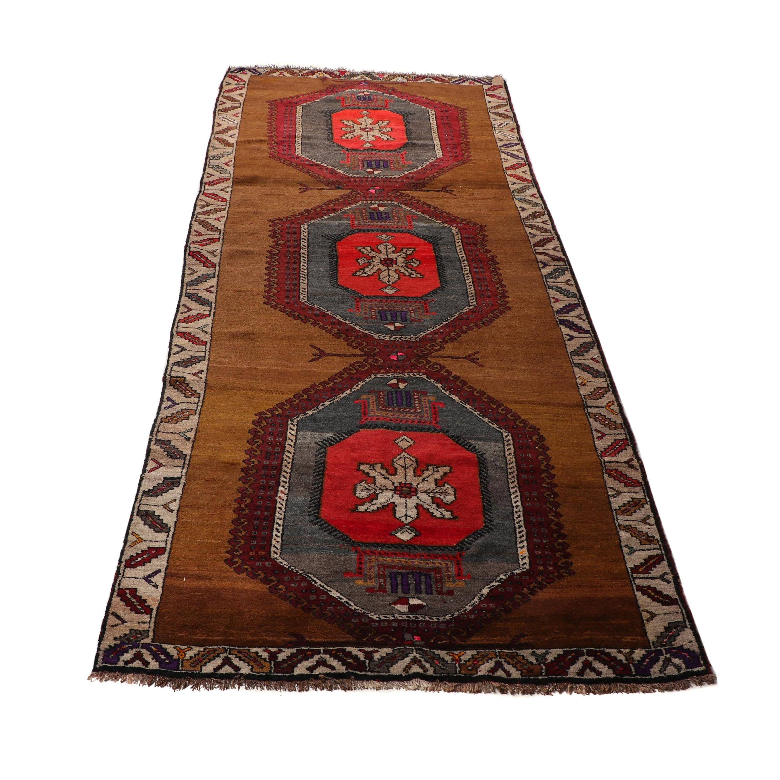 Hand-Knotted Iraqi Karaja Wool Rug
