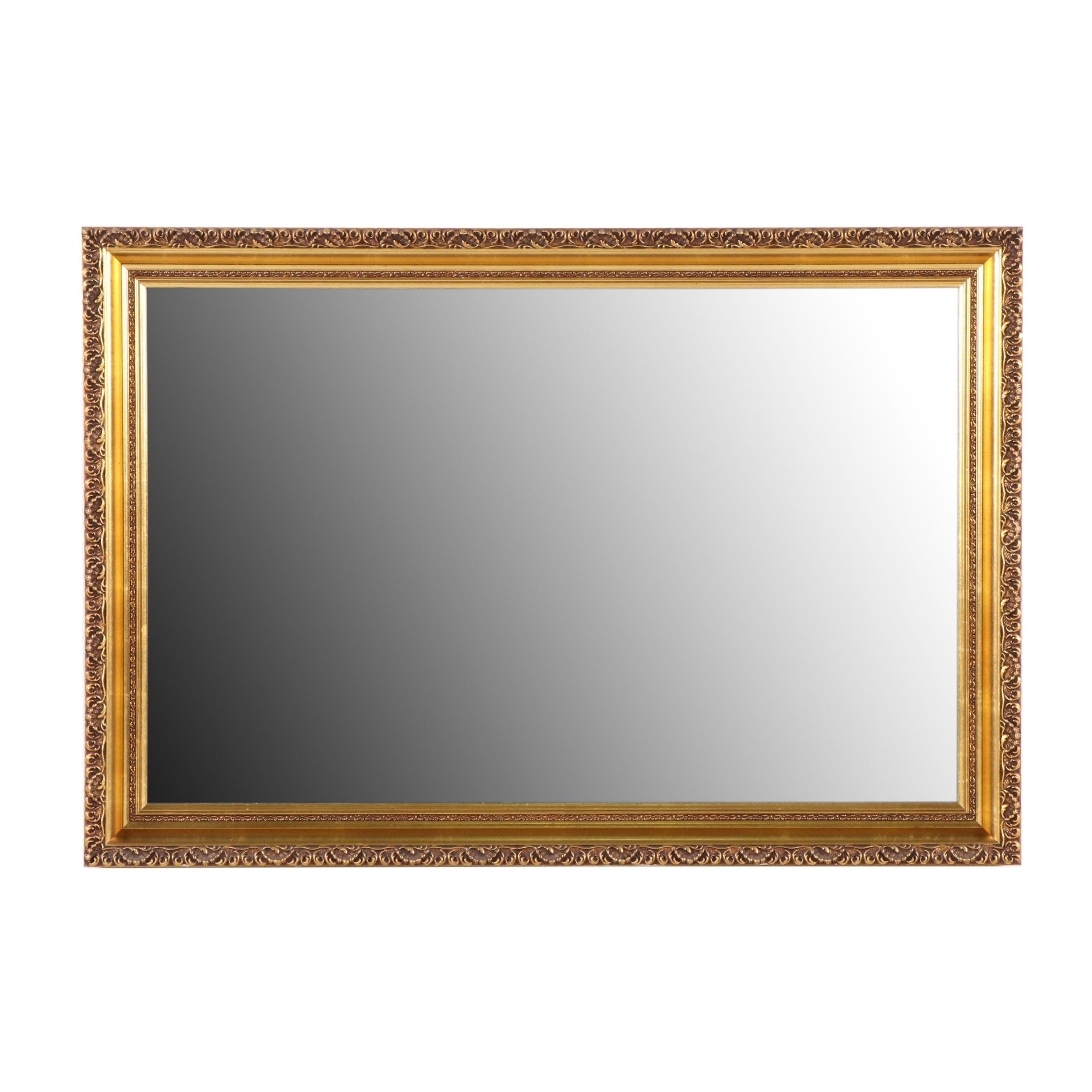 Coffey and Thompson Gilt Framed Wall Mirror, Late 20th Century