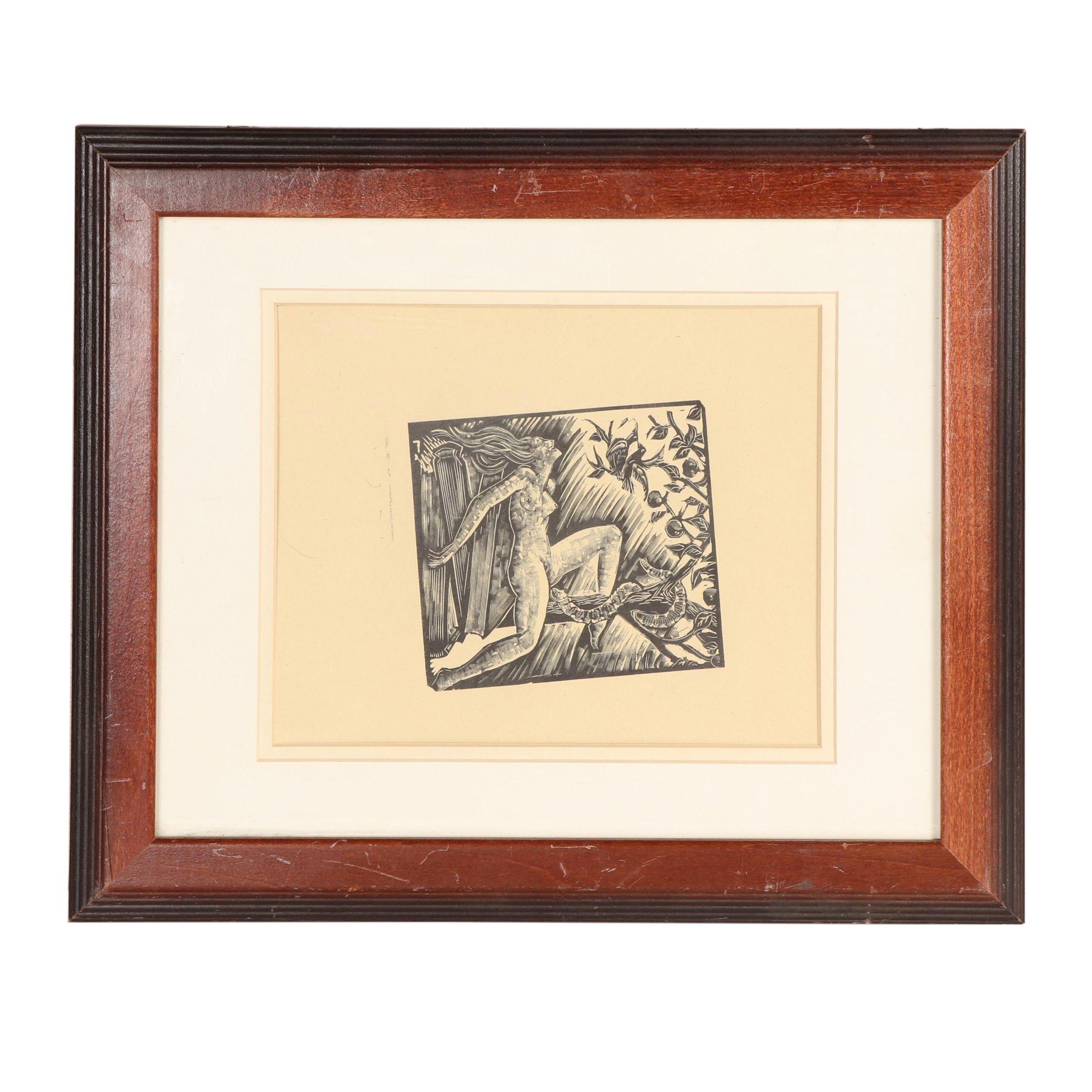 E. M. Washington Woodcut