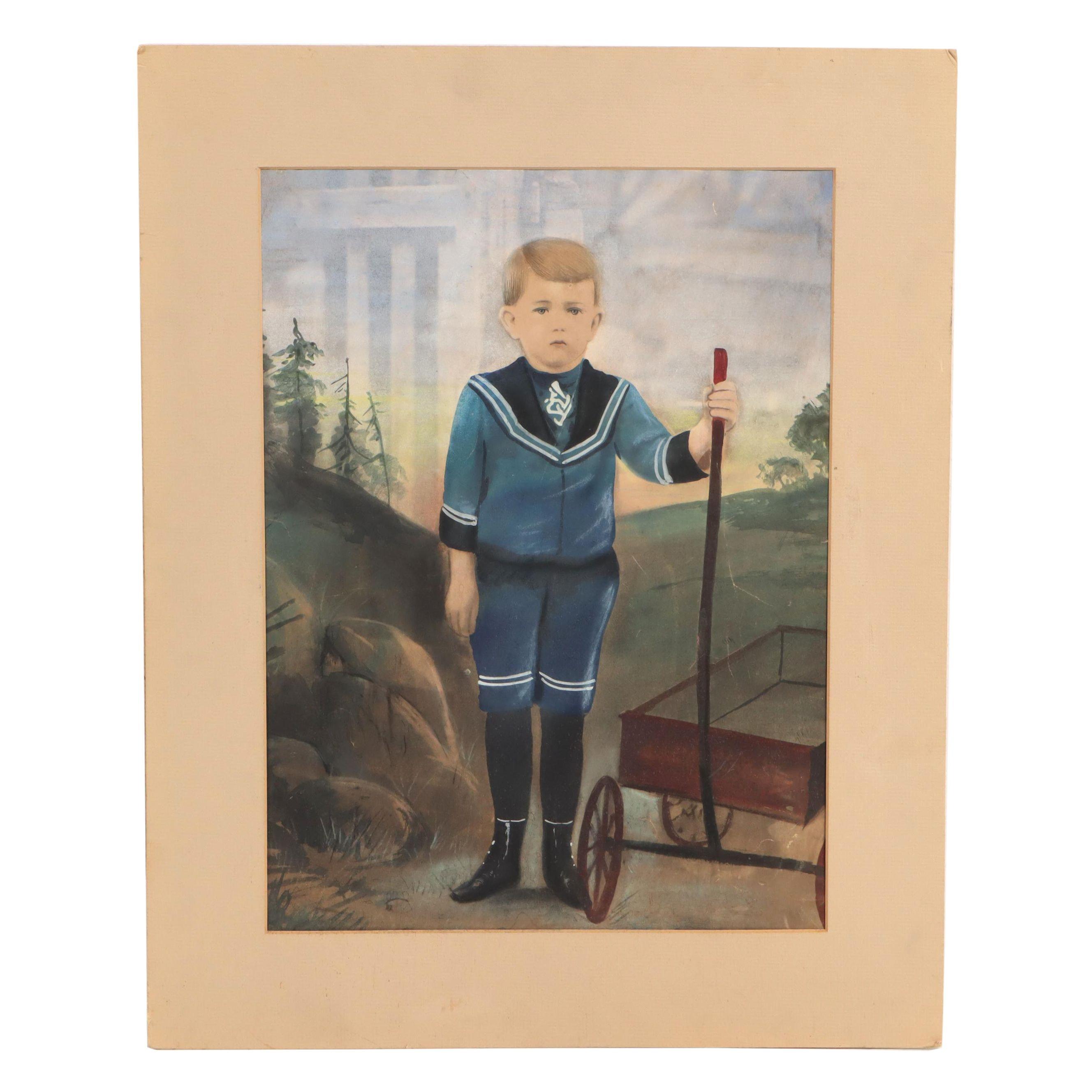 Child Portrait Watercolor Painting