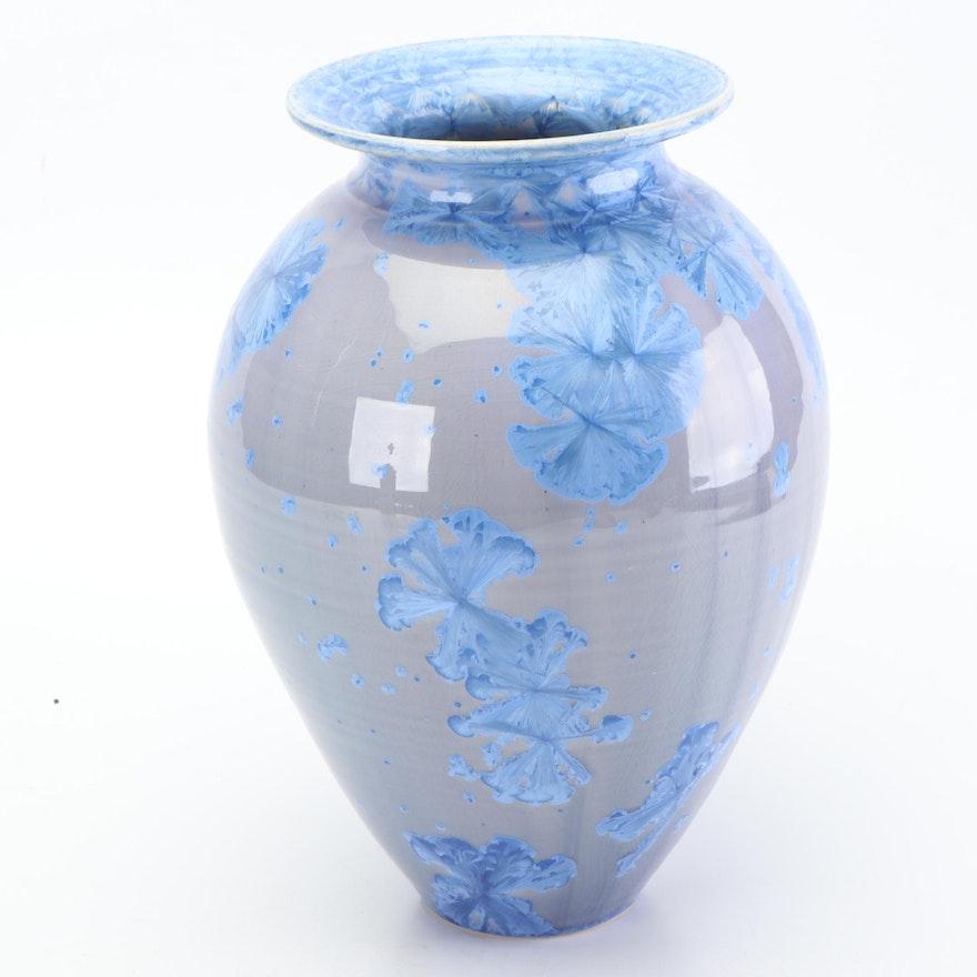 Crystalline Glazed Porcelain Vase Attributed to Dover Pottery, 1990s