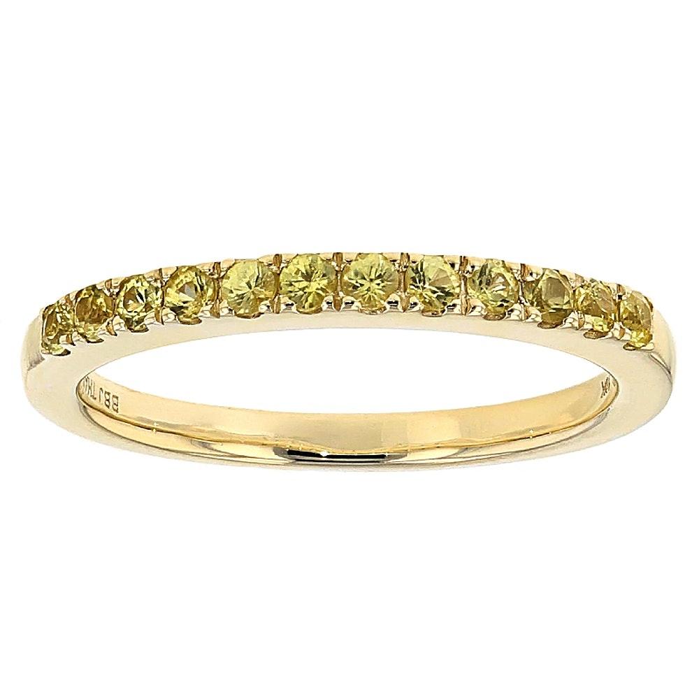 10K Yellow Gold Yellow Sapphire Ring Band