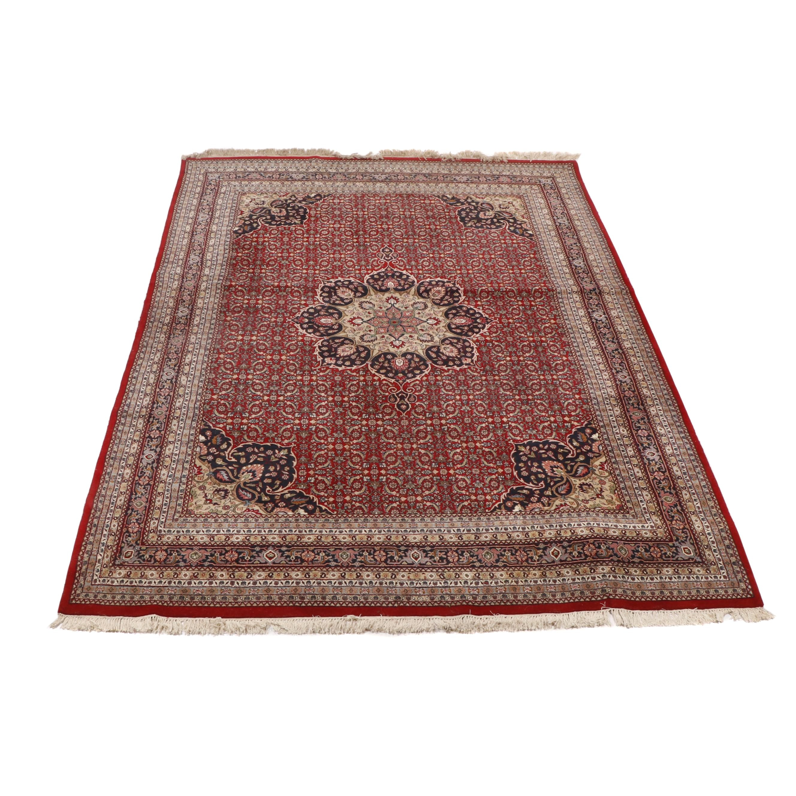 Hand Knotted Indo-Persian Bijar Wool Room Sized Rug