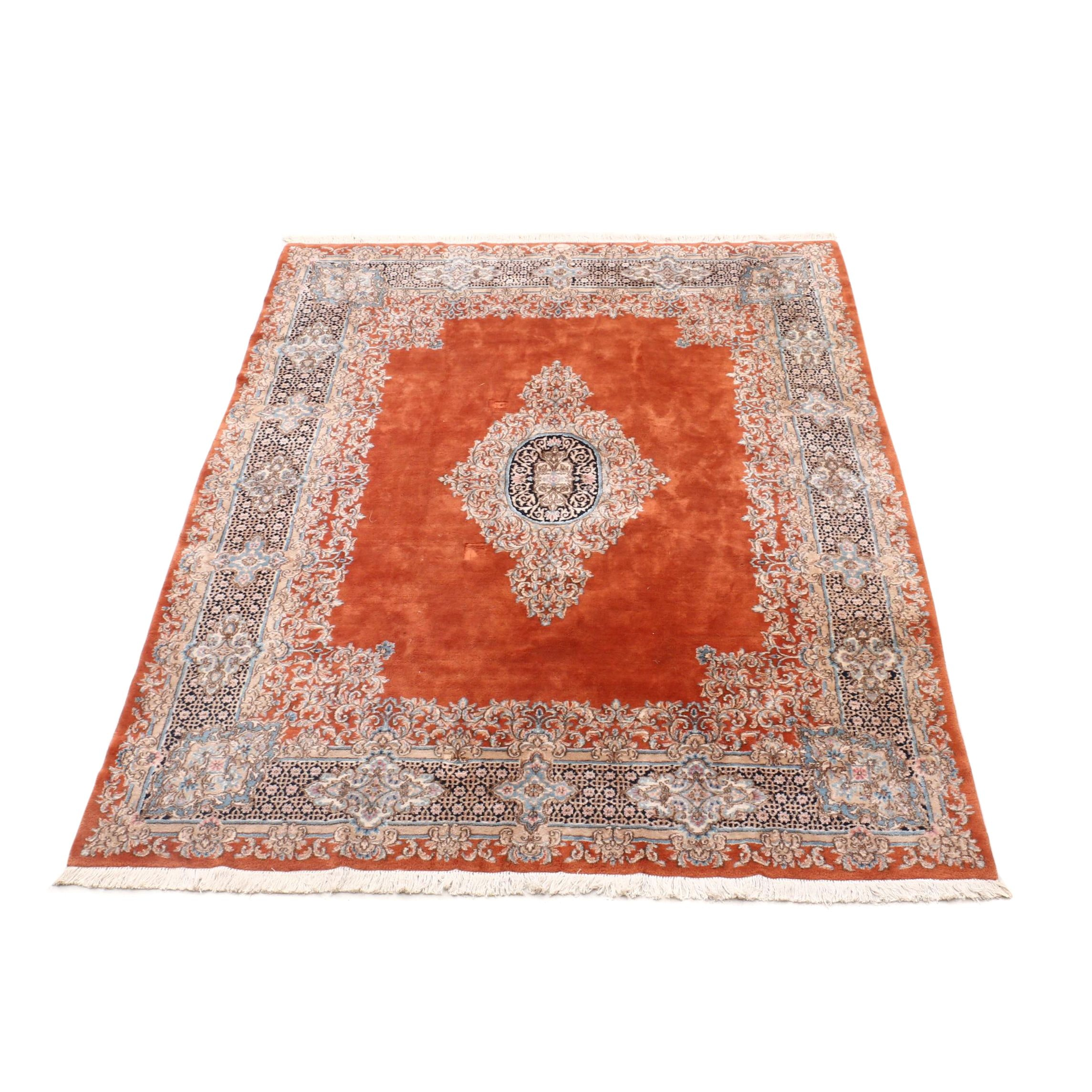 "Hand-Knotted Persian Royal Rugs ""Imperial Kerman"" Room Sized Wool Rug"