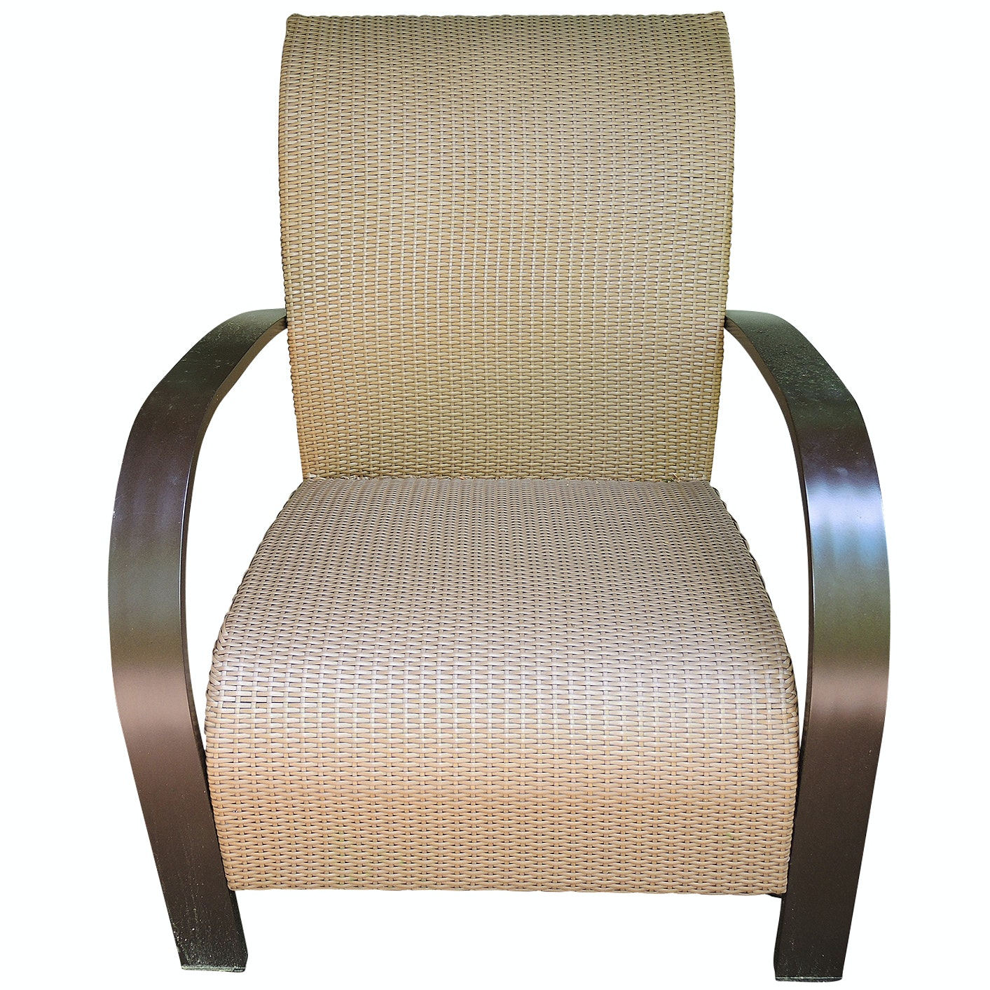 Thos. Baker Moderne All Weather Wicker Woven  Club Chair