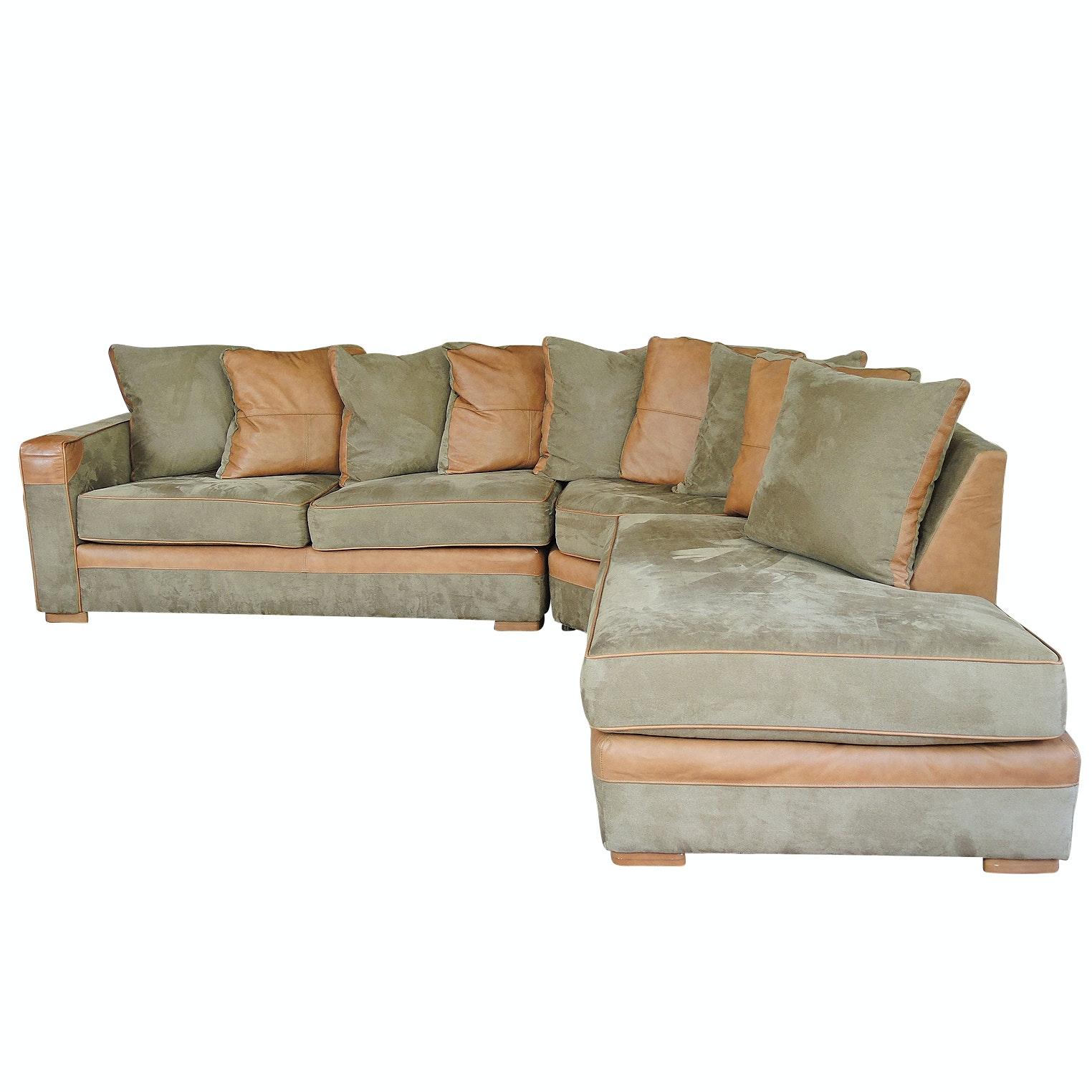 Sklar Peppler 1200 SL Series Microfiber Upholstered Sectional Sofa