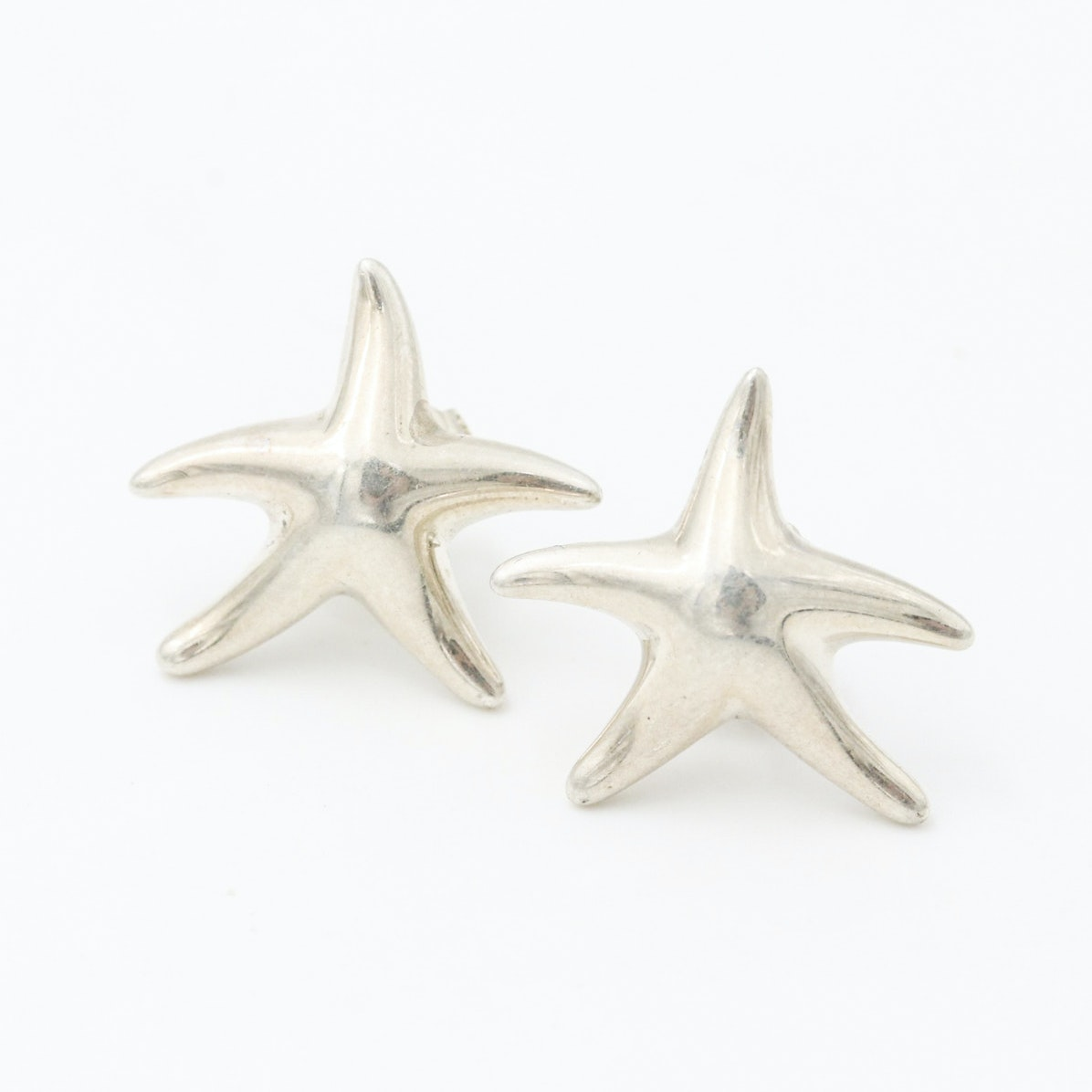 Elsa Peretti for Tiffany and Co. Spanish Sterling Silver Star Earrings