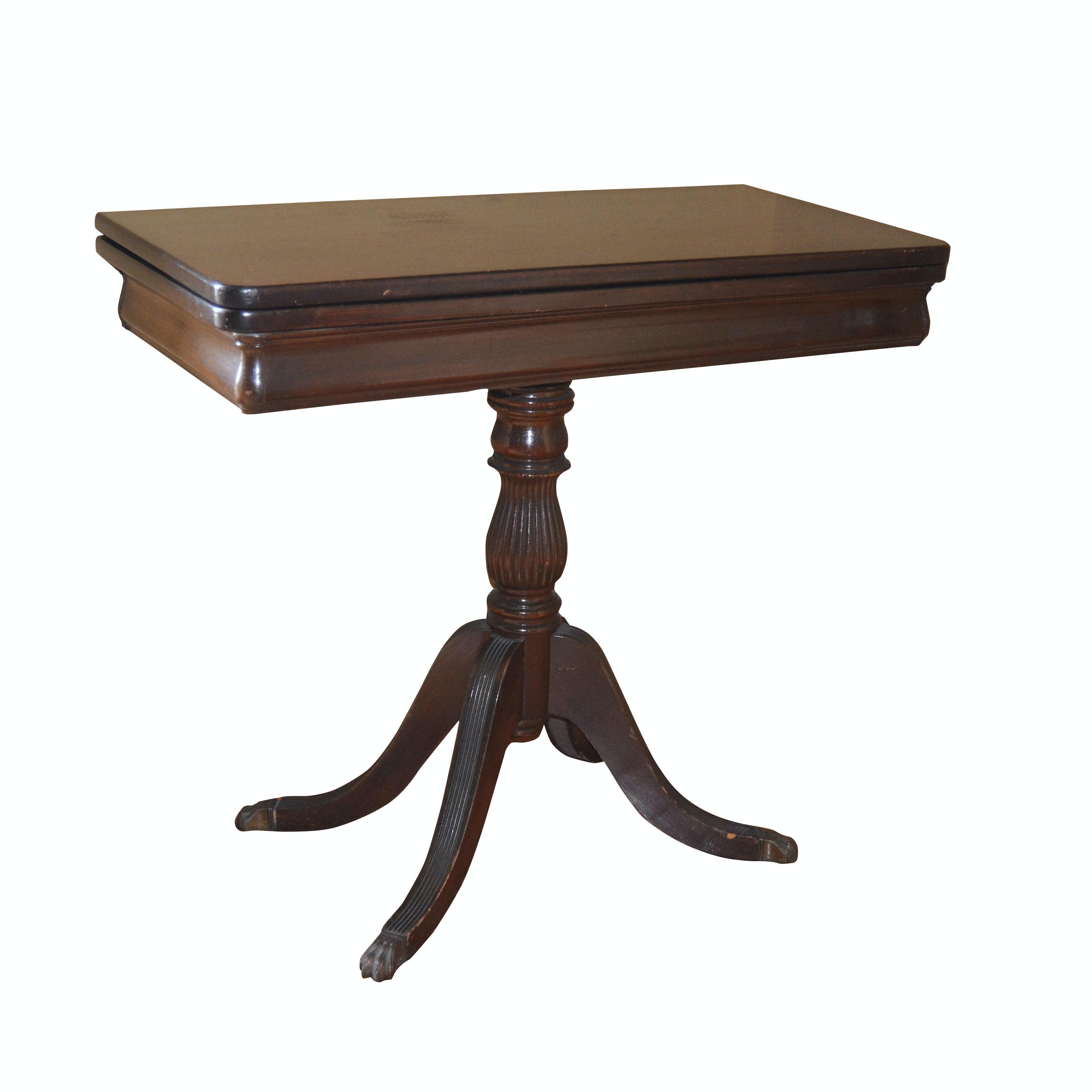 Duncan Phyfe Style Mahogany Games Table, Mid-20th Century