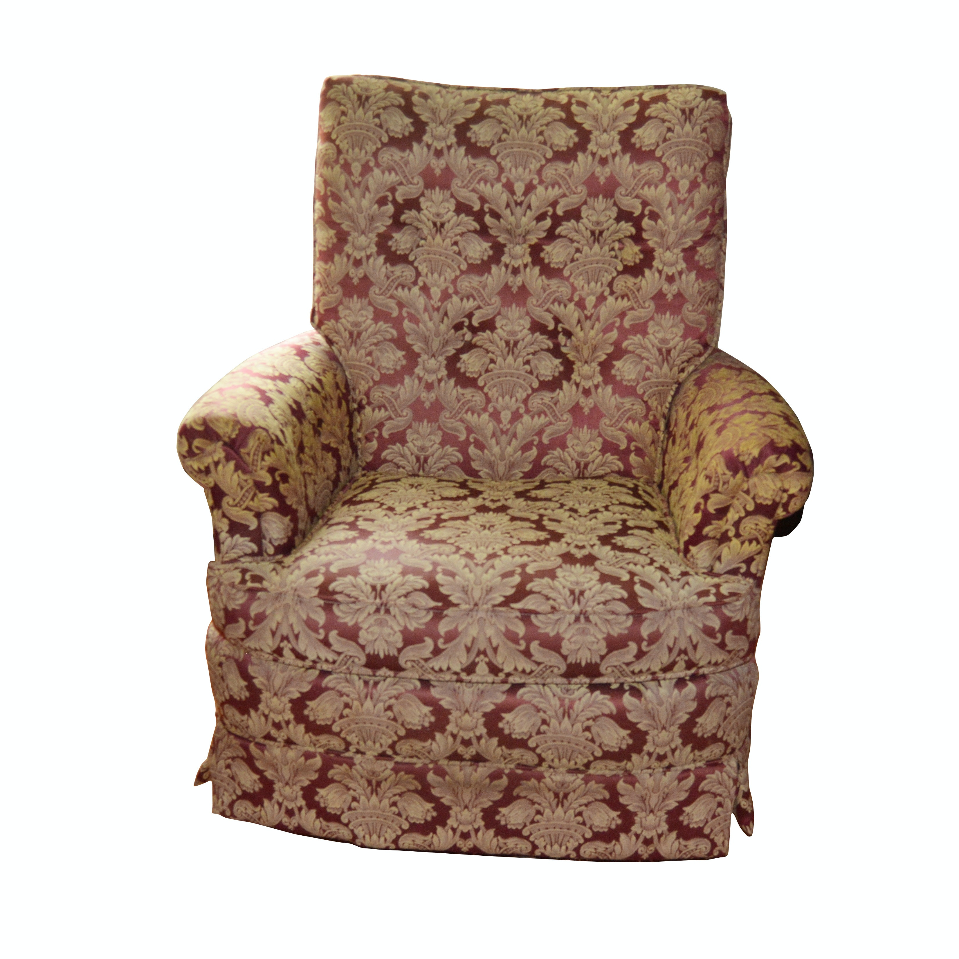 Upholstered Swivel Lounge Chair, Late 20th Century