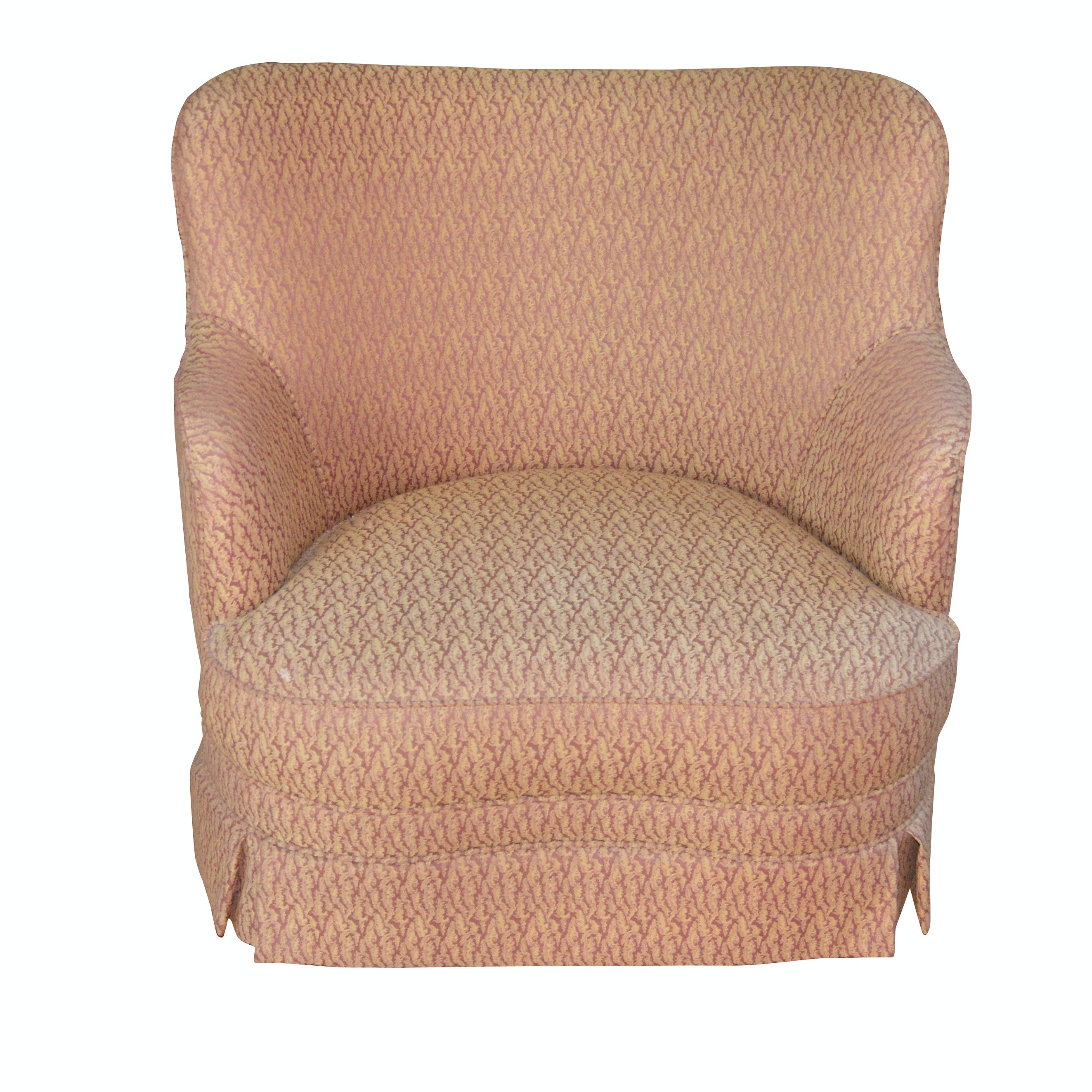 Contemporary Pink Upholstered Lounge Chair