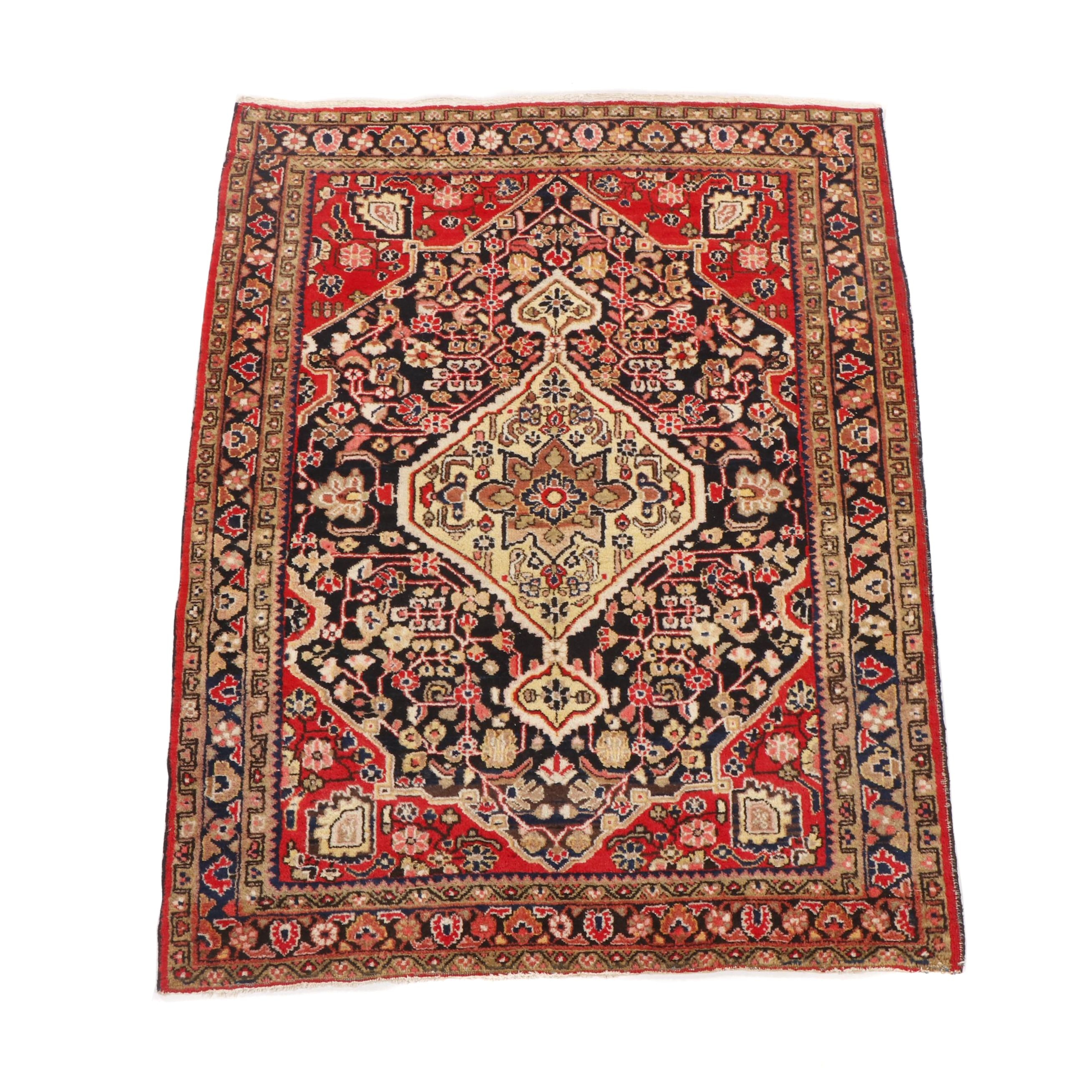 Hand-Knotted Persian Borchalu Wool Rug