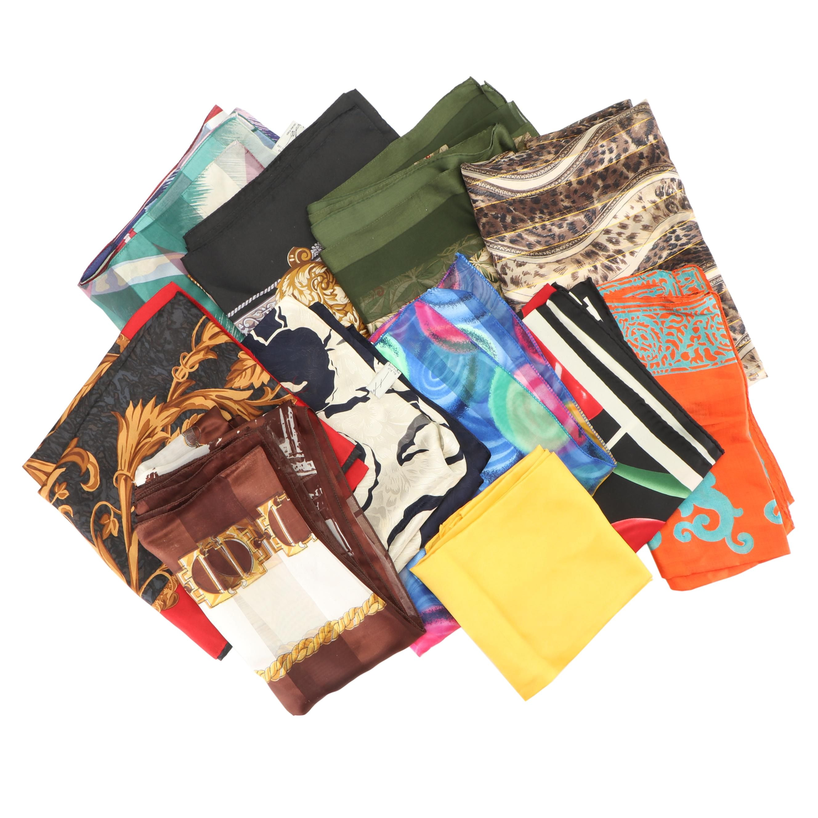 Assortment of Scarves Including Hiroko Kapp