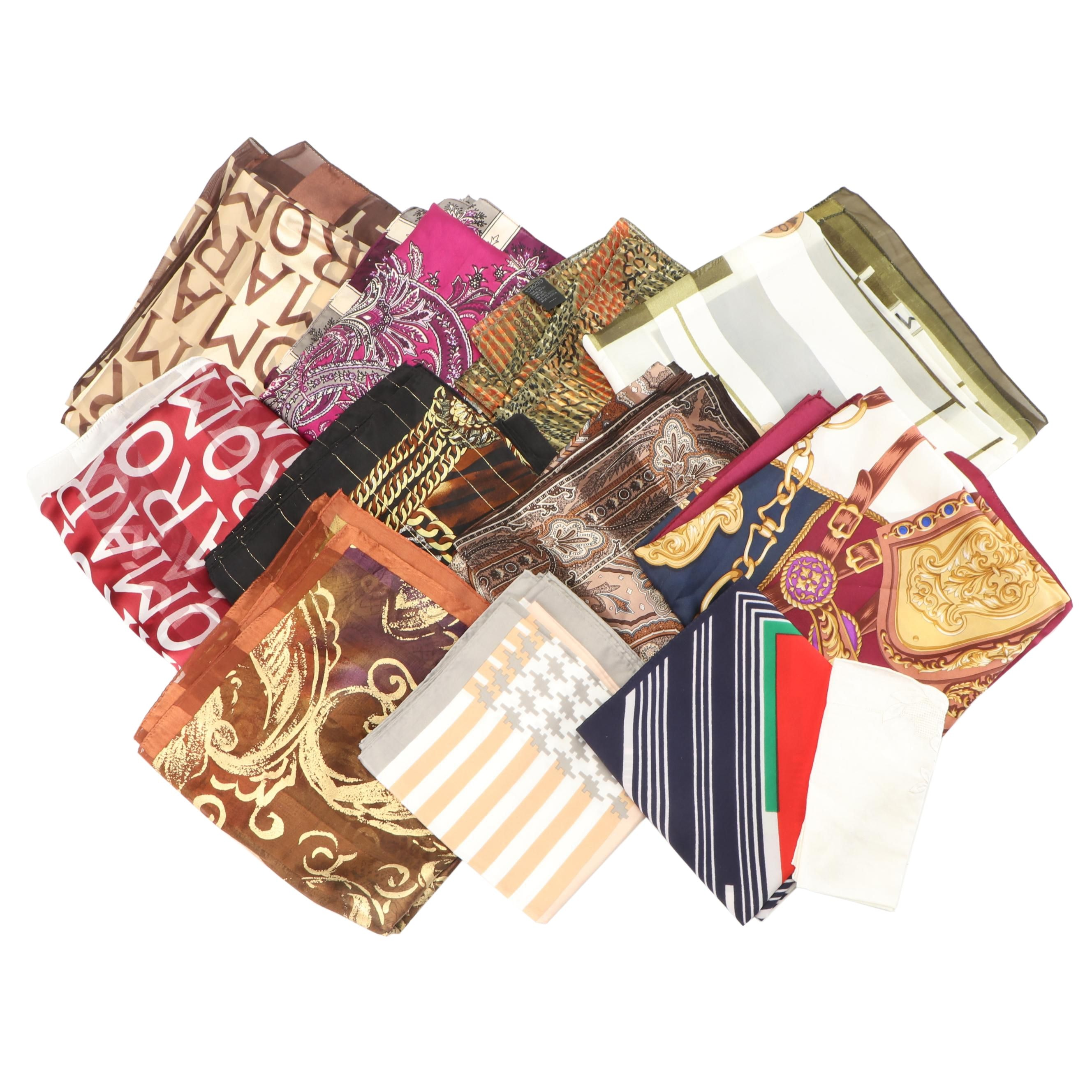 Collection of Scarves Including Hiroko Kapp