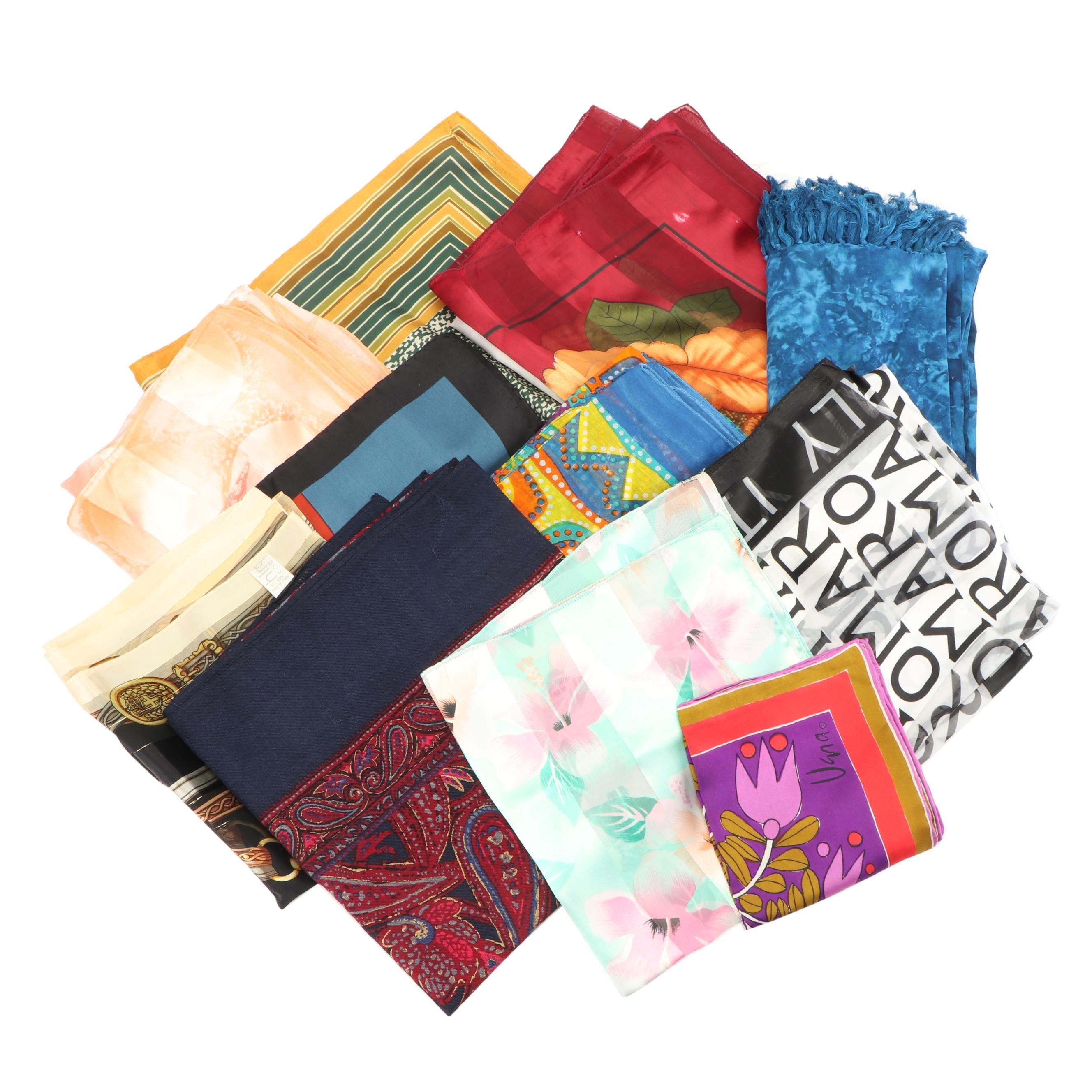 Assortment of Scarves Including Vera and Hiroko for Dozo