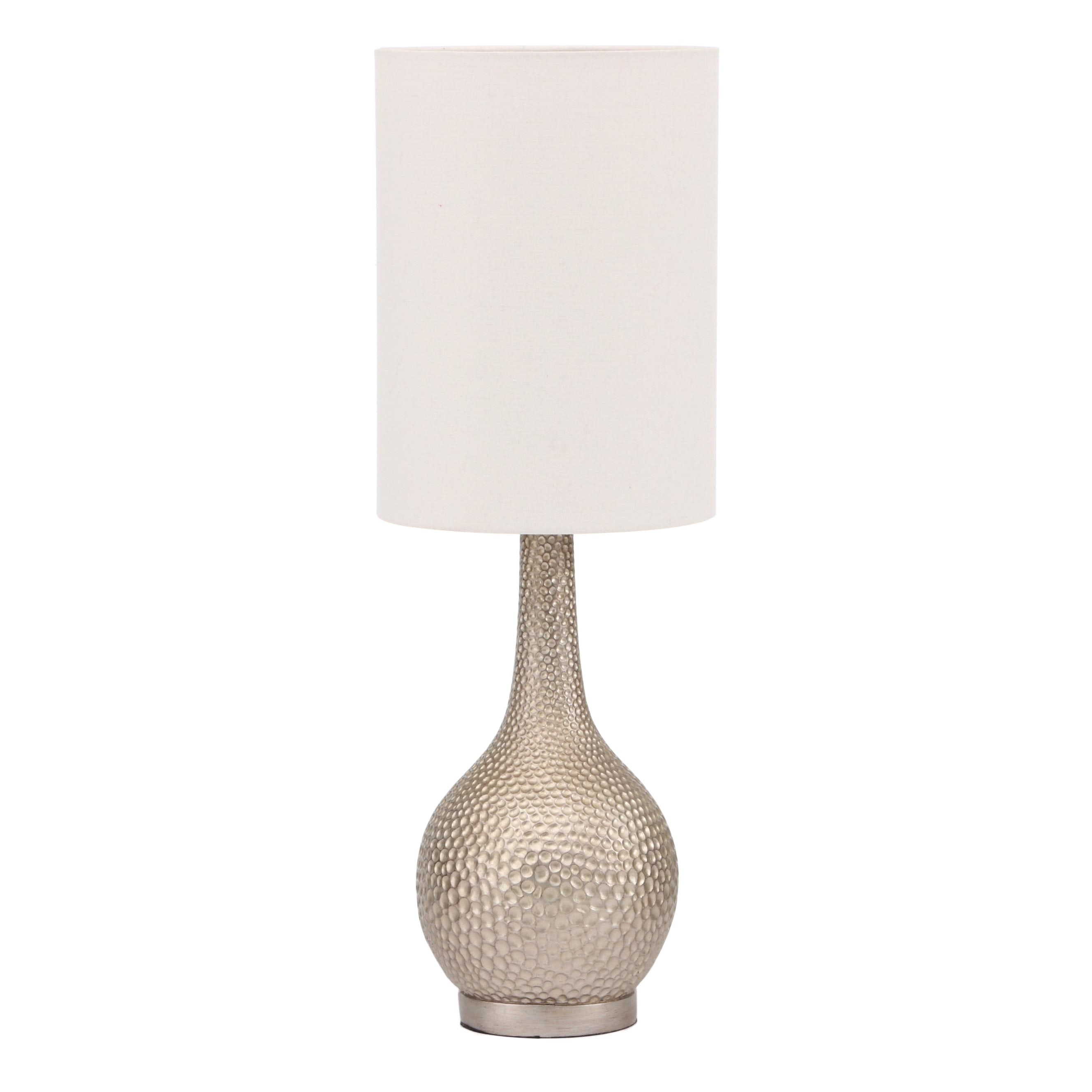 Metallic Textured Composite Table Lamp