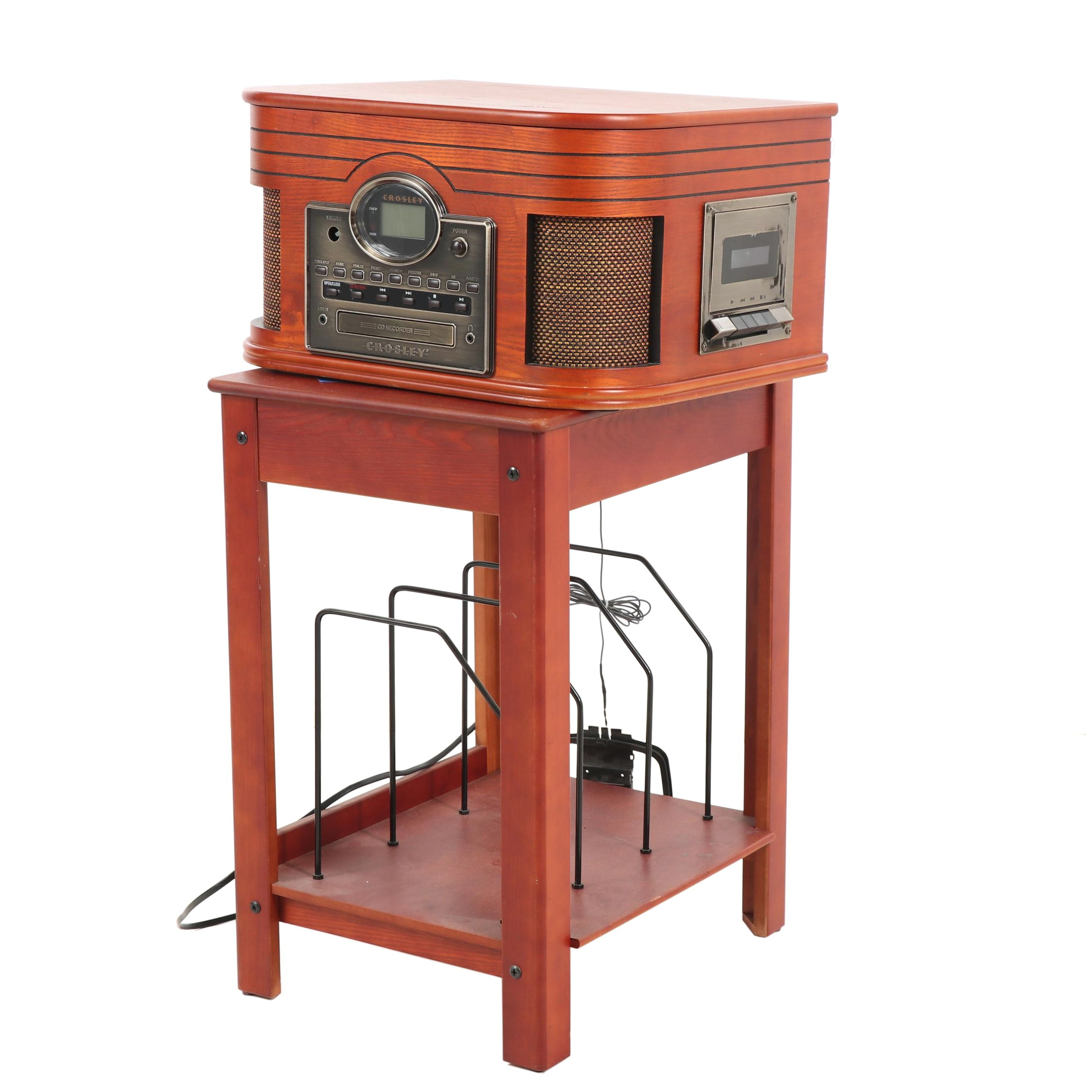 Crosley Model CR247 Combination Record Player/CD Recorder with Table
