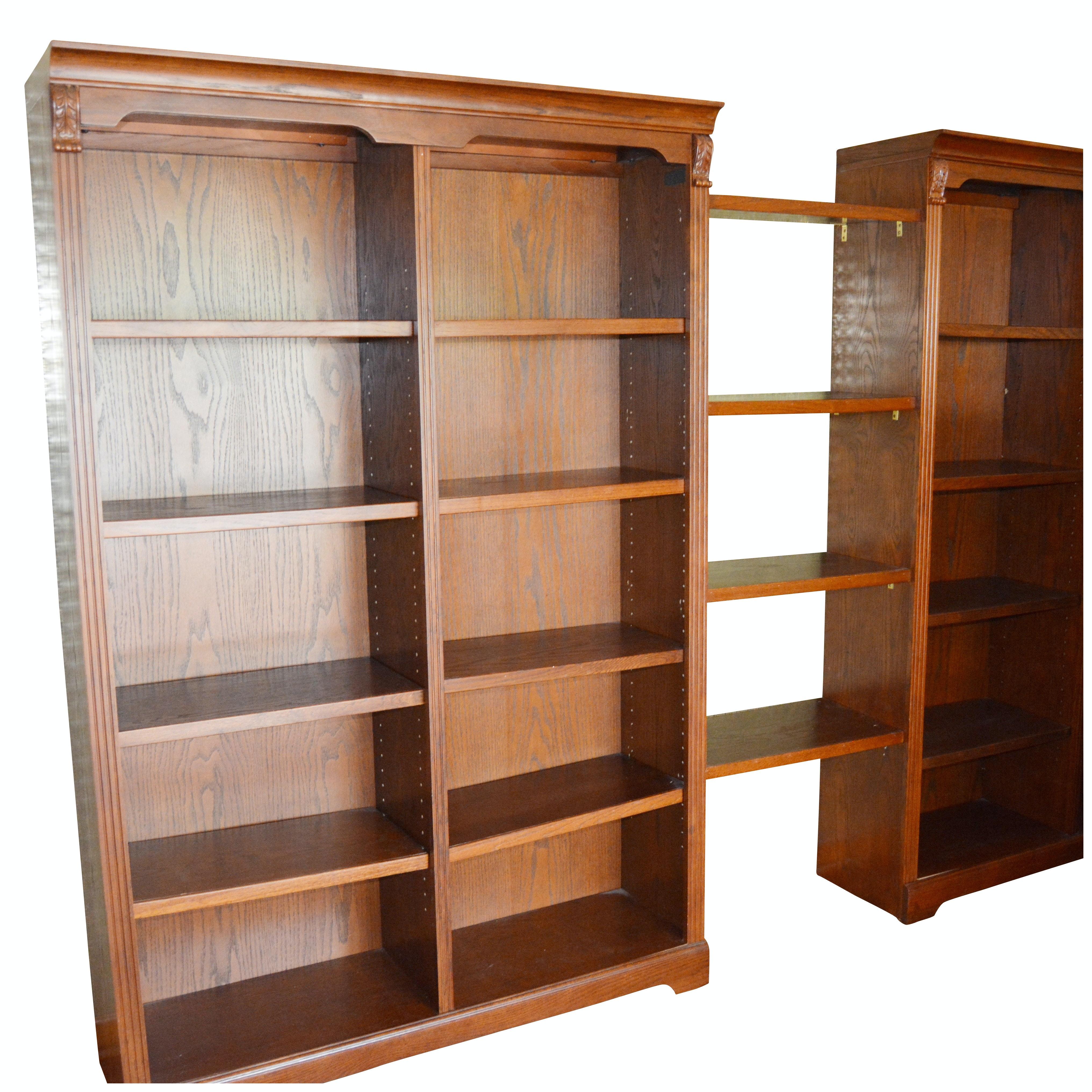 Whalen Oak Sectional Book Shelf, Late 20th Century