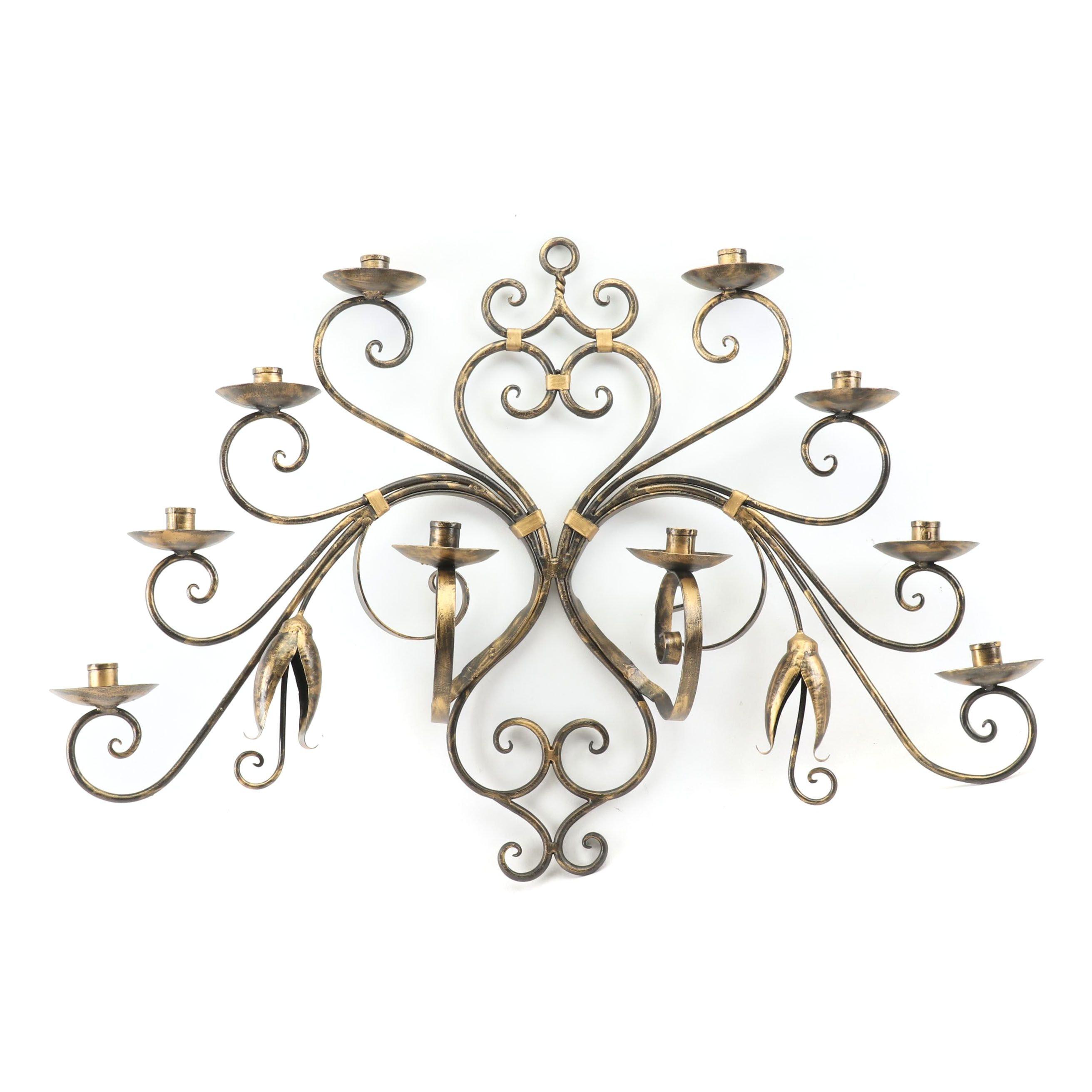 Decorative Metal Hanging Candelabra