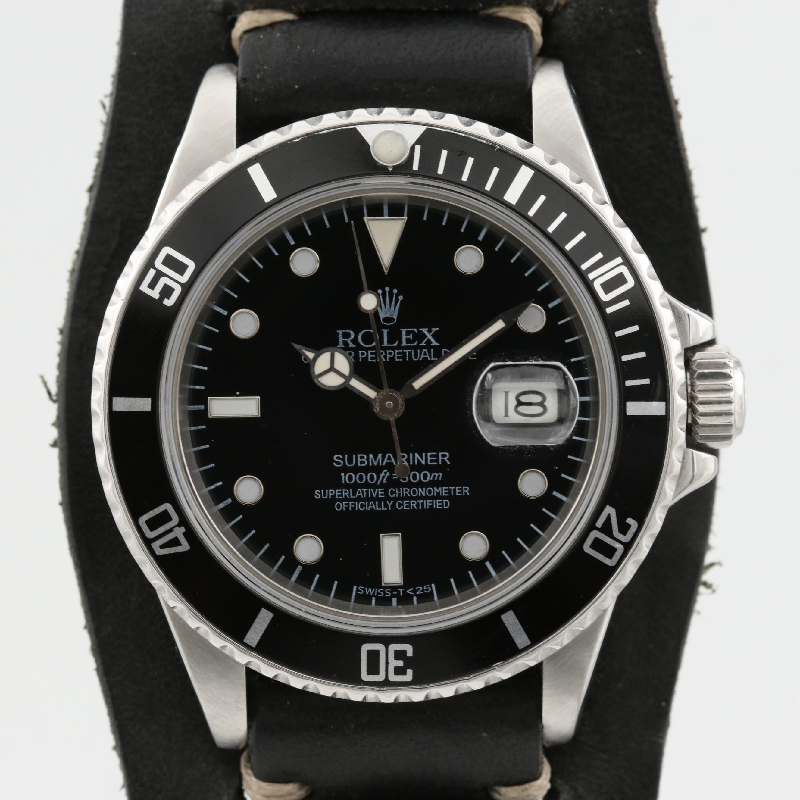 Rolex Submariner Stainless Steel Automatic Wristwatch, 1988