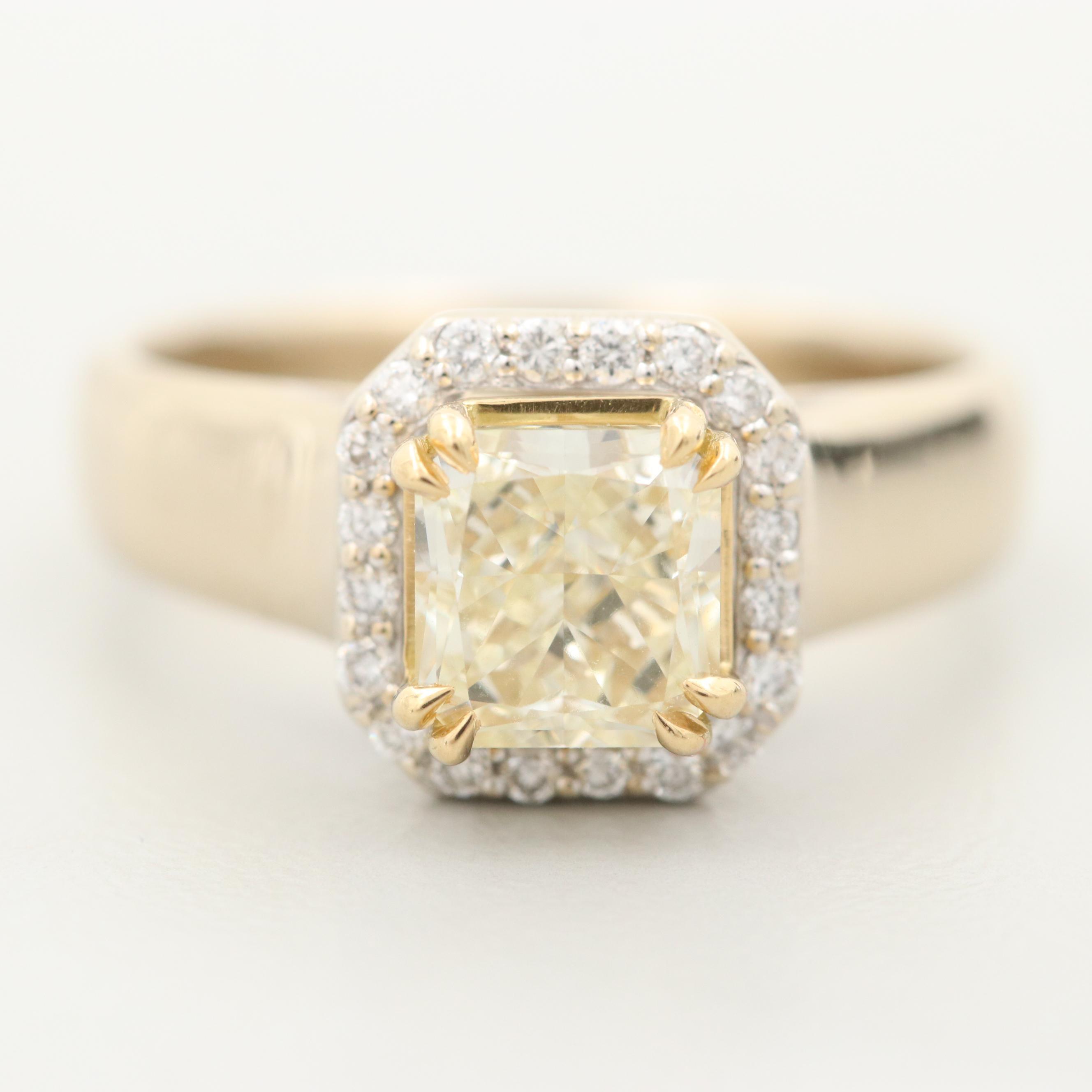 18K Yellow Gold 1.22 CTW Diamond Ring