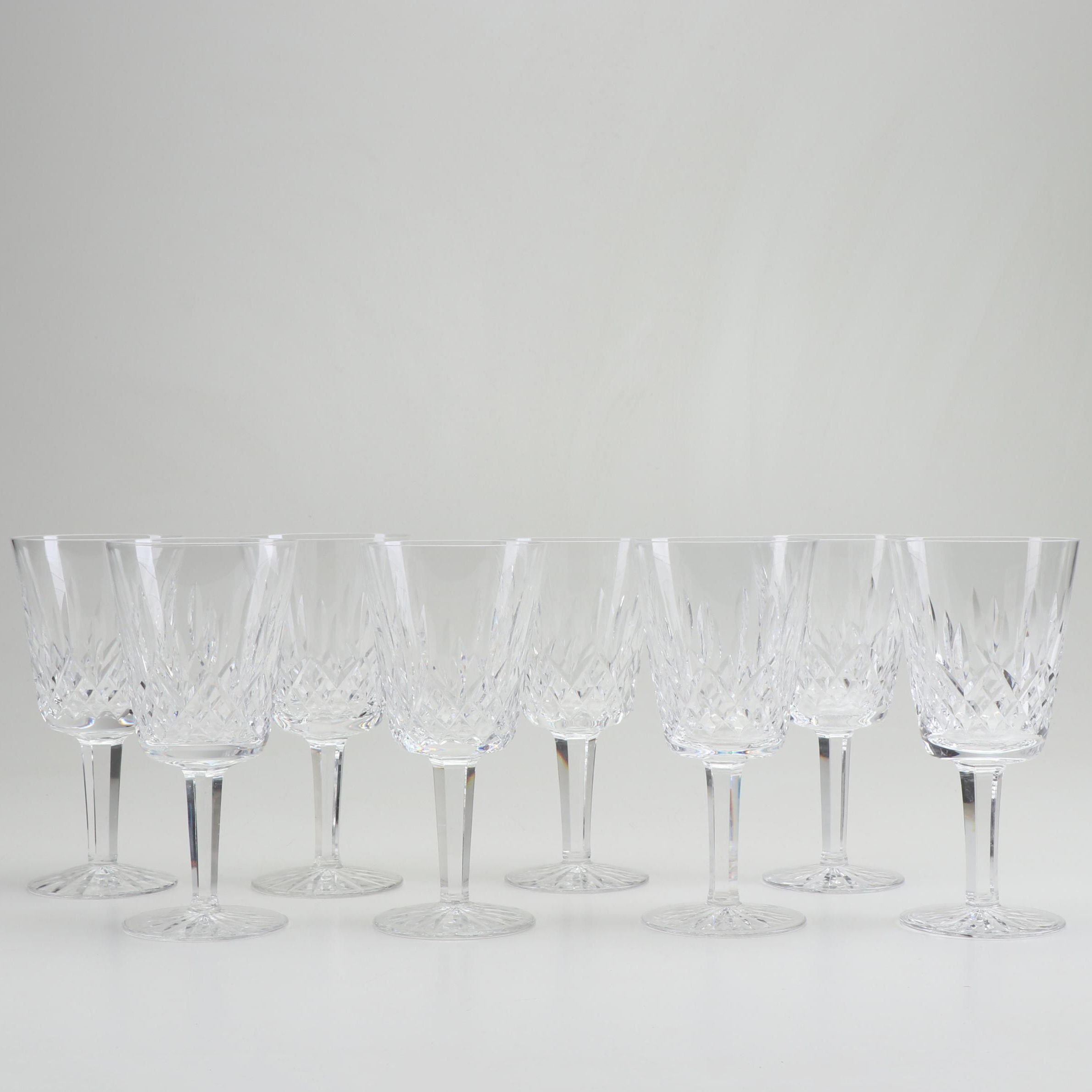 "Waterford ""Lismore"" Crystal Water Goblets, Group of 8"