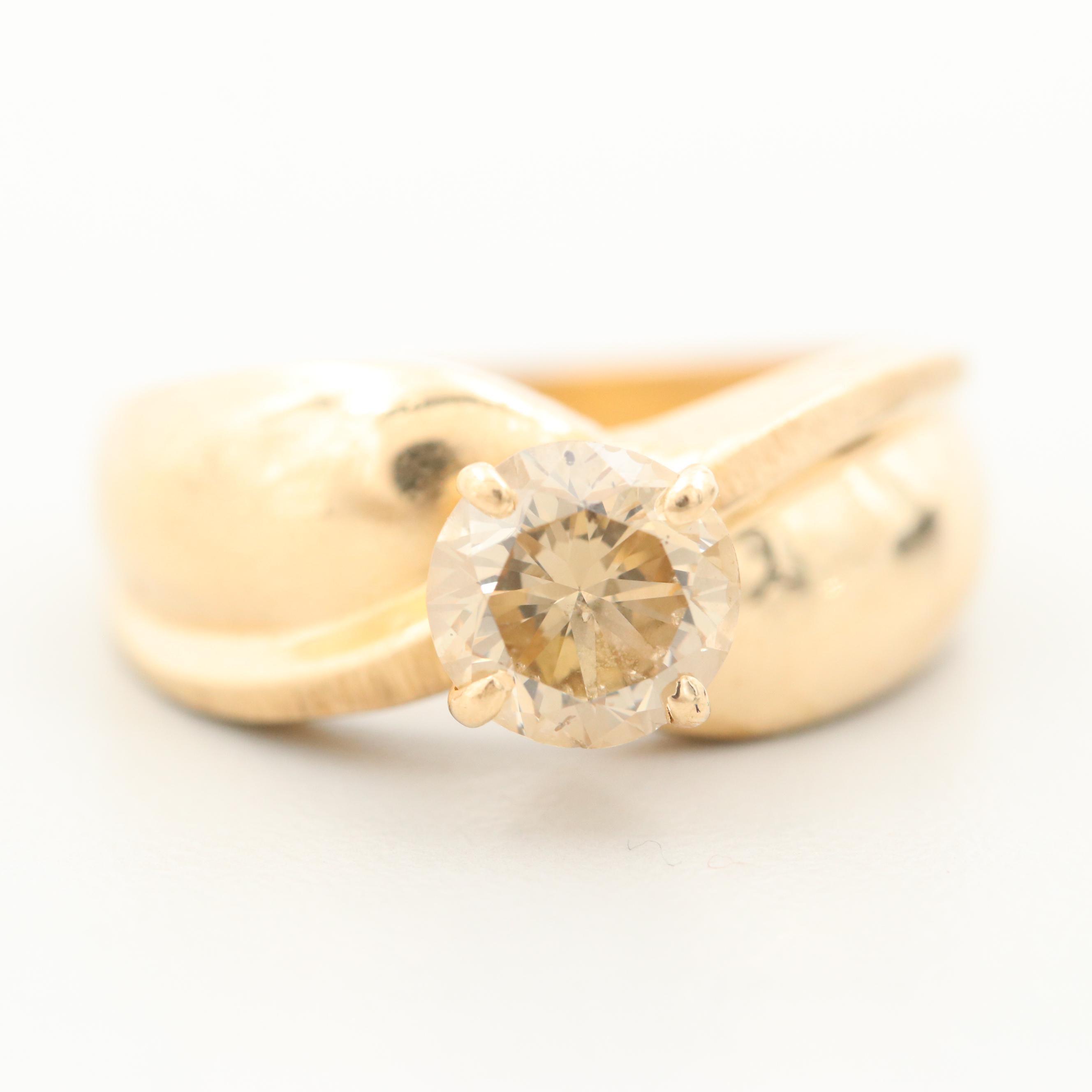 14K Yellow Gold 1.22 CT Diamond Ring