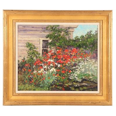 Graydon Foulger Garden Oil Painting