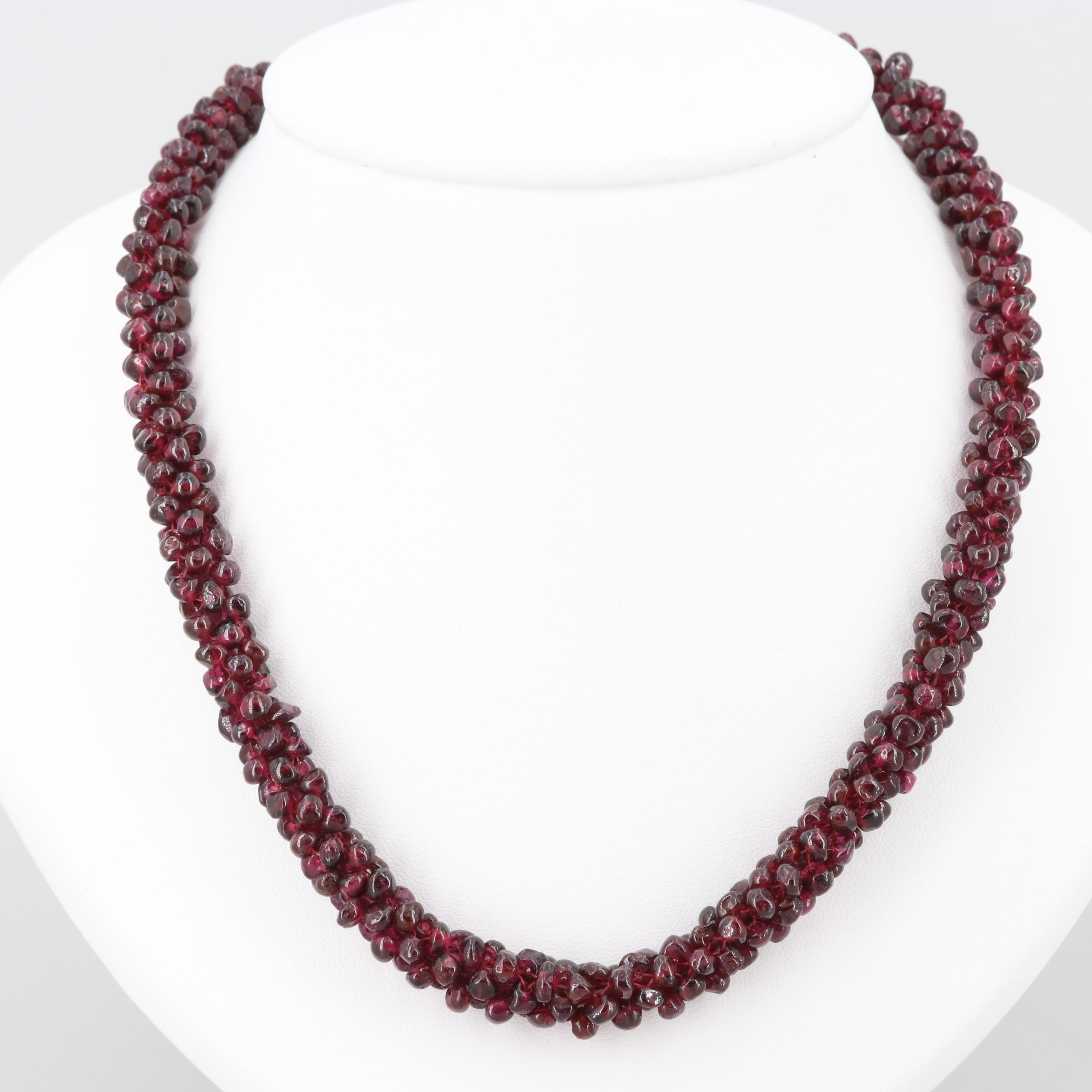 Wovan Garnet Beaded Necklace