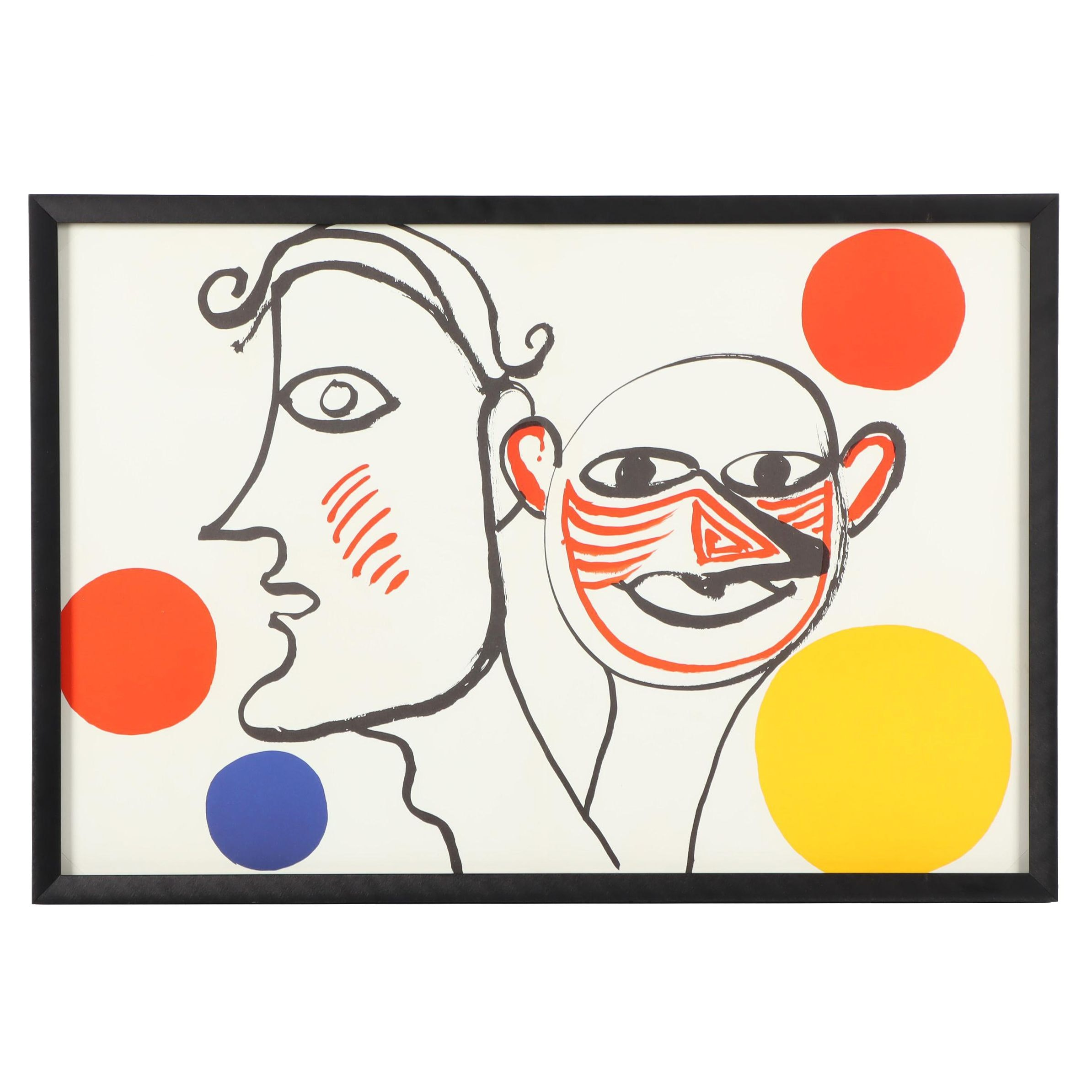 "Alexander Calder Two-Page Color Lithograph from ""Derrière le Miroir"""