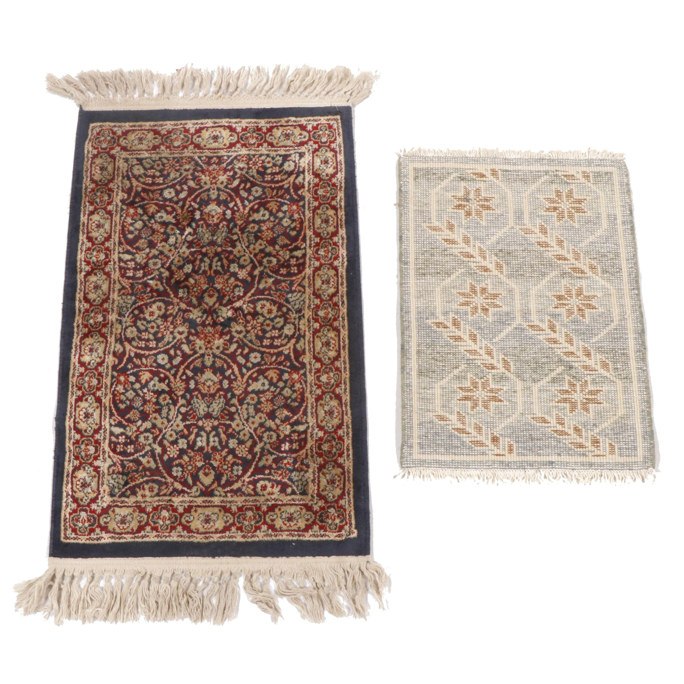 Machine Made Karastan and Hand-Knotted Indo-Persian Wool Accent Rugs