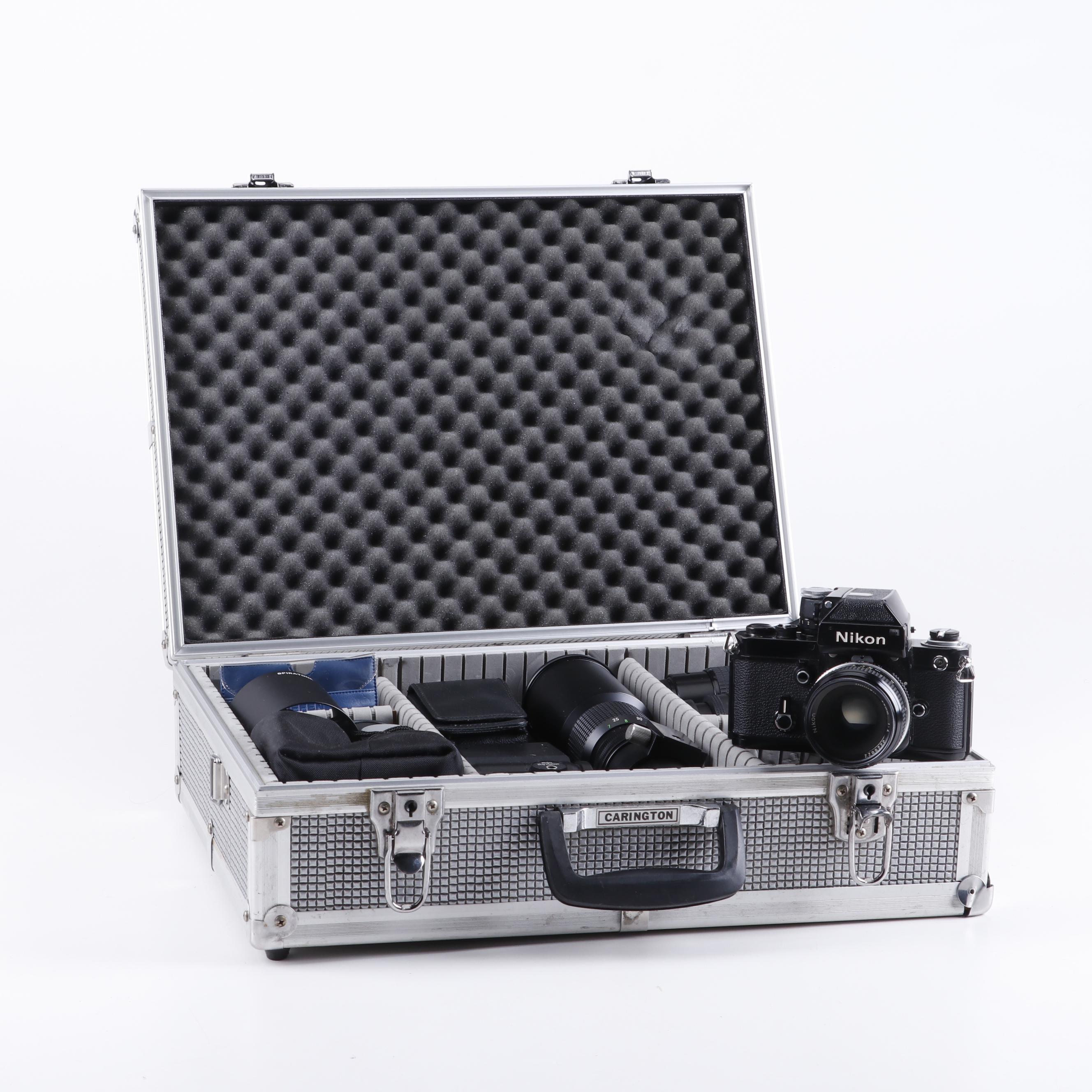 Nikon F2 SLR Camera, Lenses, Accessories, and Hard Case
