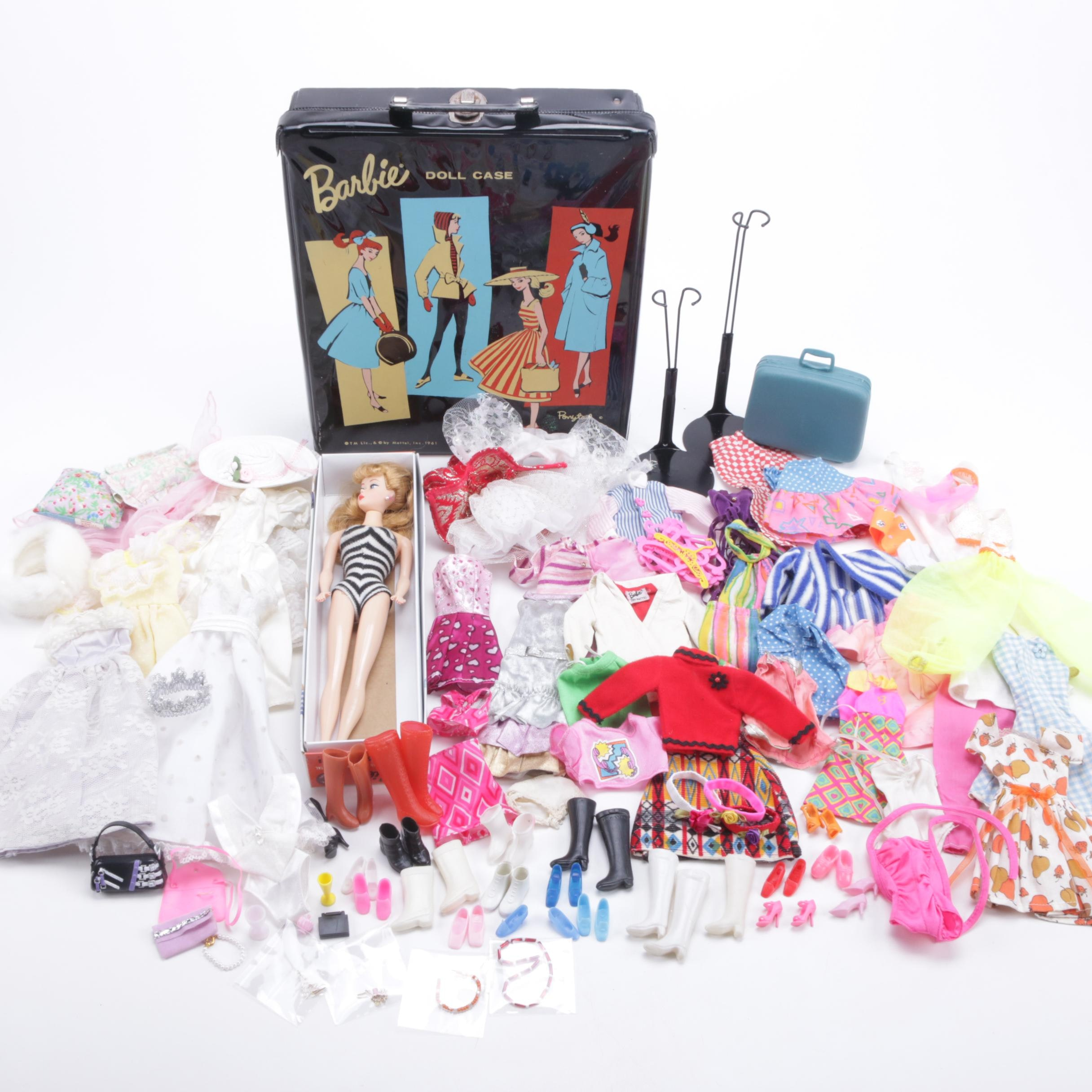 35th Anniversary Ponytail Barbie with Vintage Clothing and Doll Case